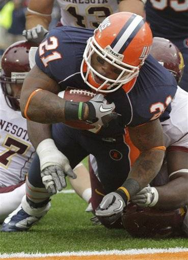 Minnesota upsets Illinois with comeback, 38-34