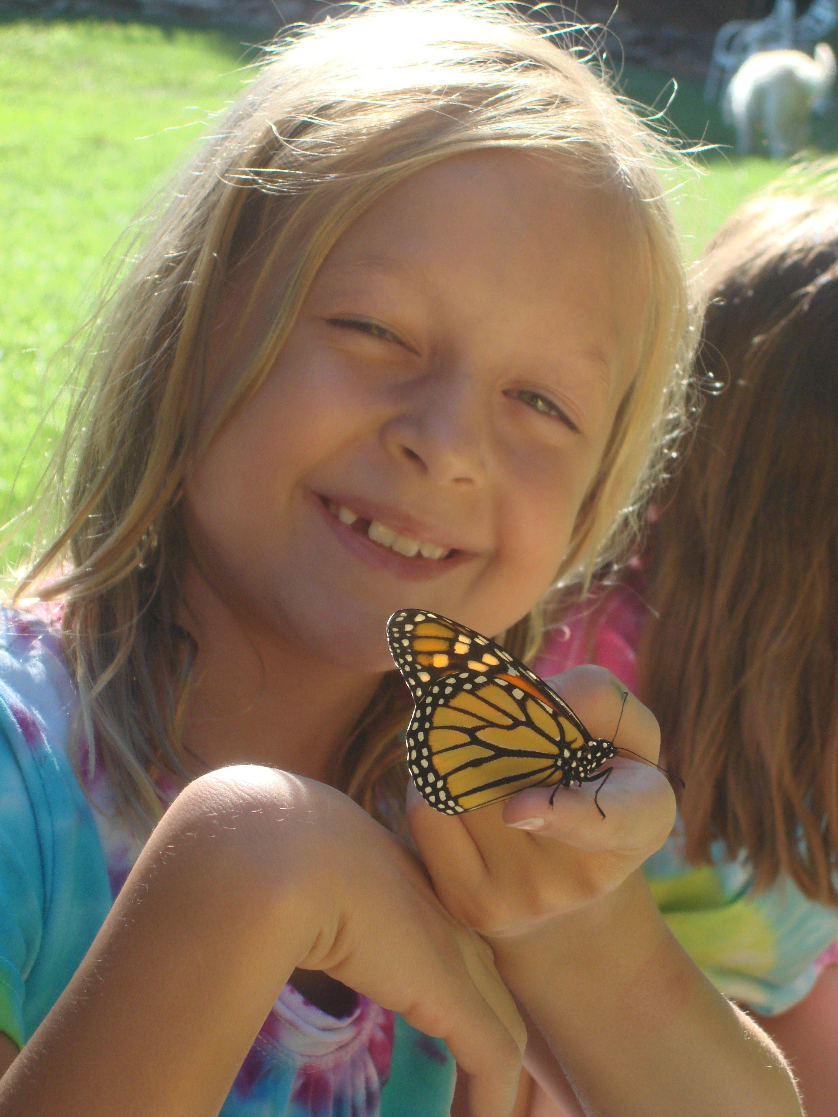 Lanie Hedrick brought beauty to Lisle by nurturing an releasing 62 Monarch butterflies.
