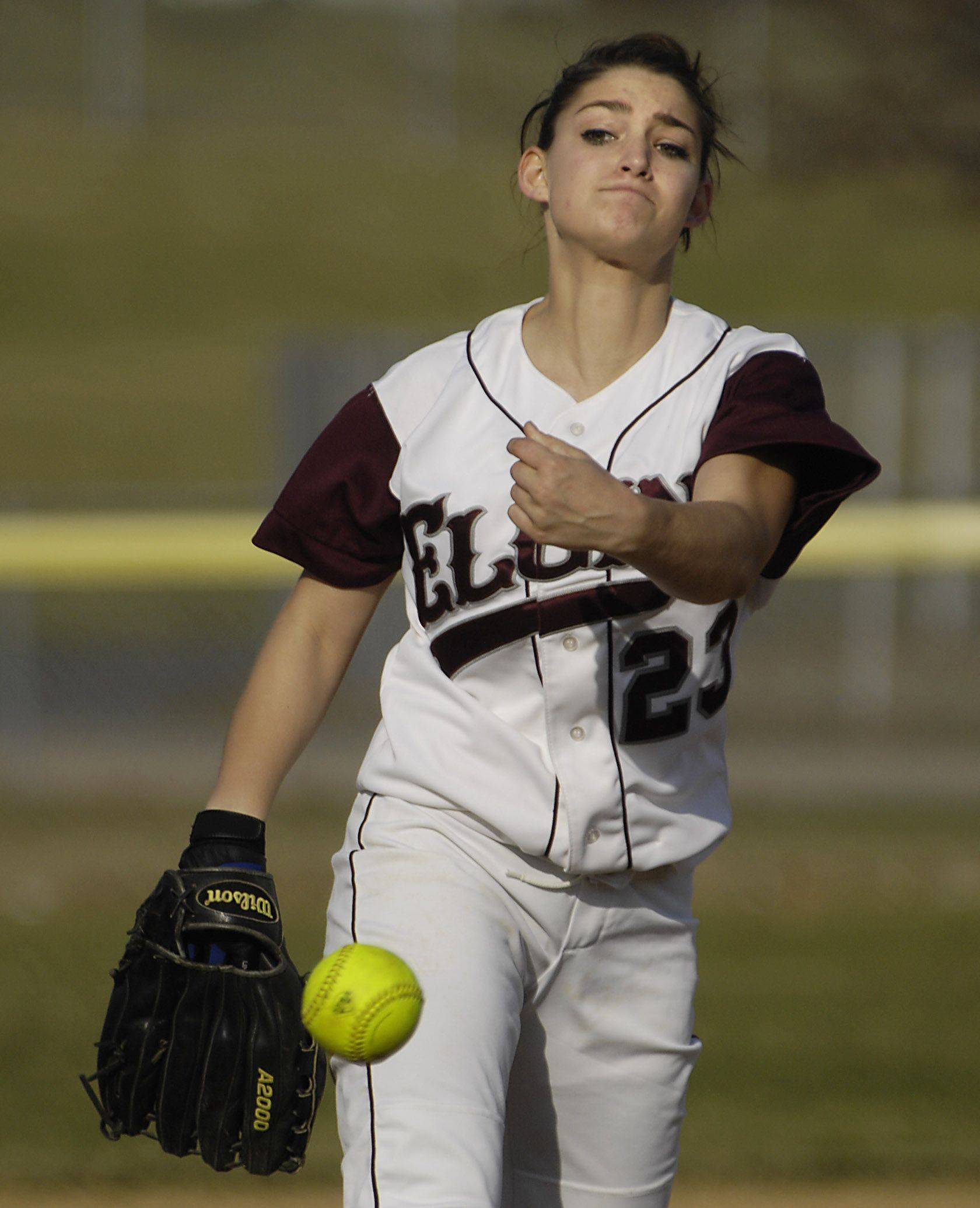 Hannah Perryman, a starting pitcher for Elgin High, pushed to change the state's stalking laws after she says she was stalked for years and unable to obtain an order of protection despite numerous cries for help.
