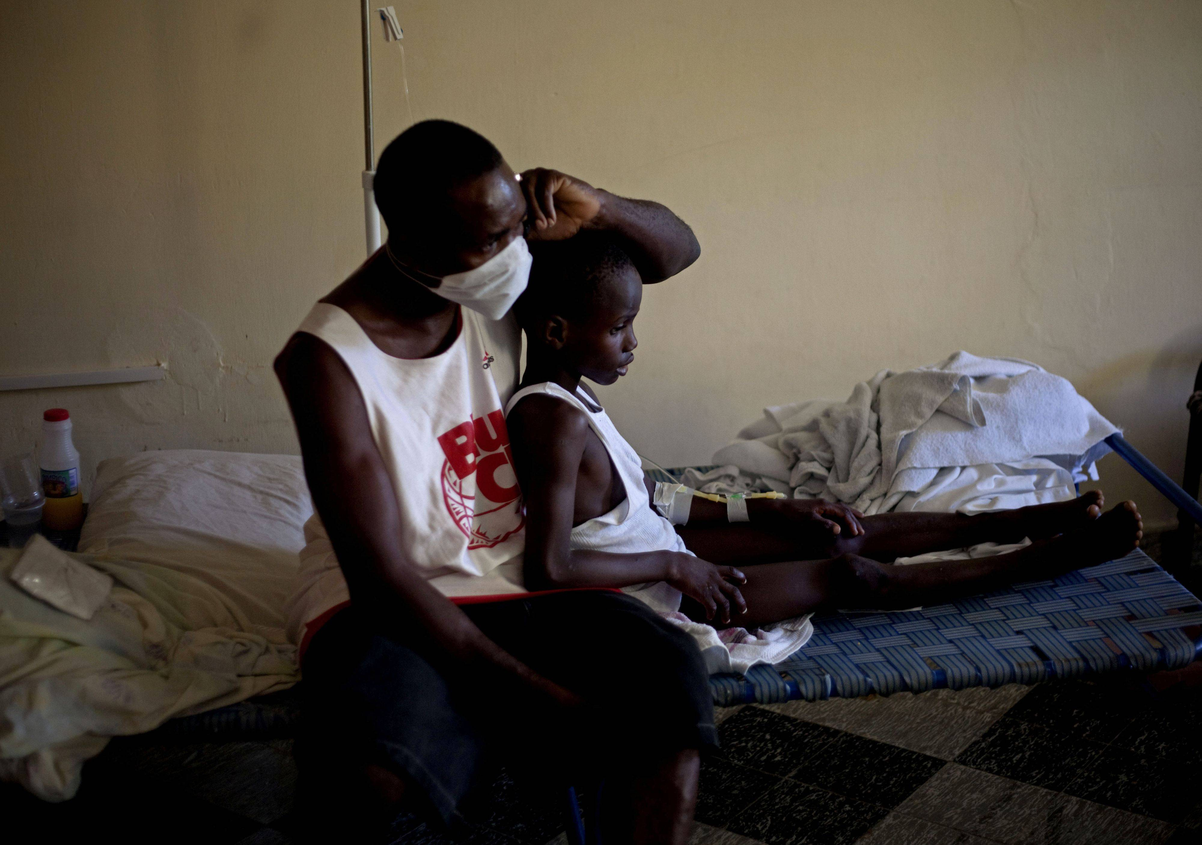 Images from cholera outbreak in Haiti