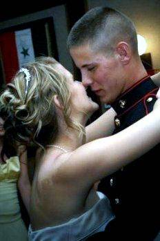 This is a wedding picture of Lance Cpl. James and Katie Stack. He was killed in Afghanistan Nov. 10.