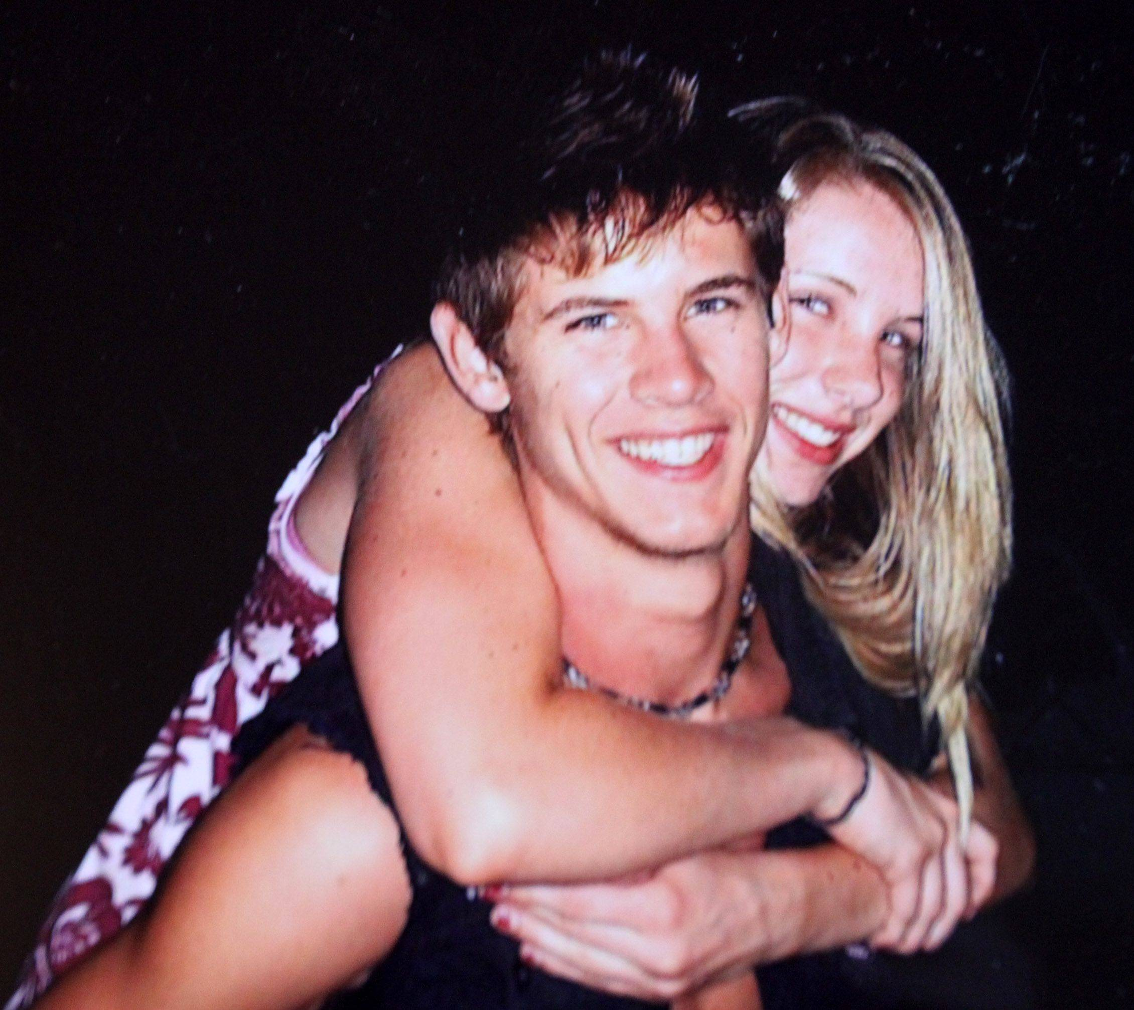 Marine Lance Cpl. James Stack with his sister, Megan Stack. He was killed in Afghanistan Nov. 10.
