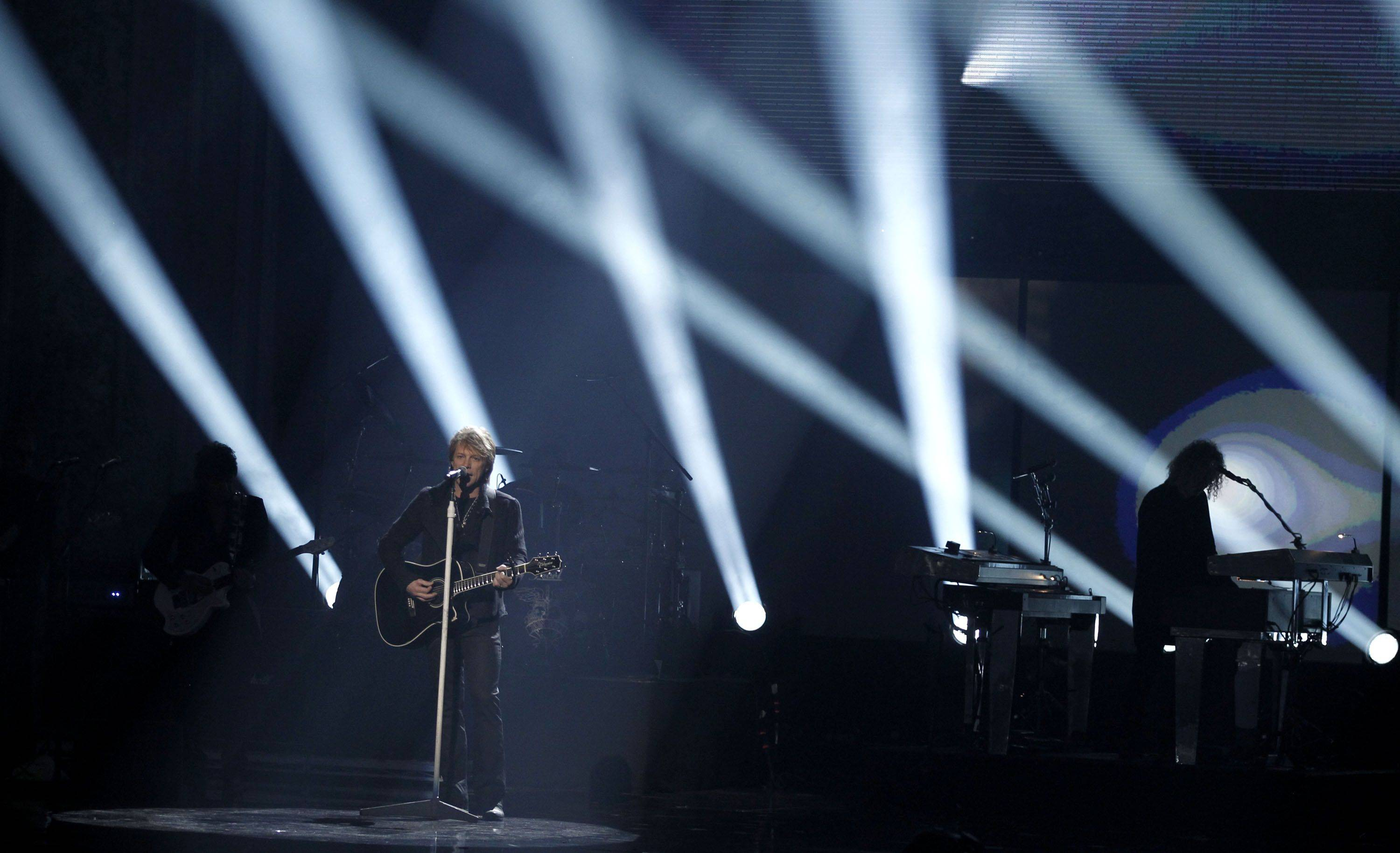 Bon Jovi performs at the 38th Annual American Music Awards on Sunday, Nov. 21, 2010 in Los Angeles.