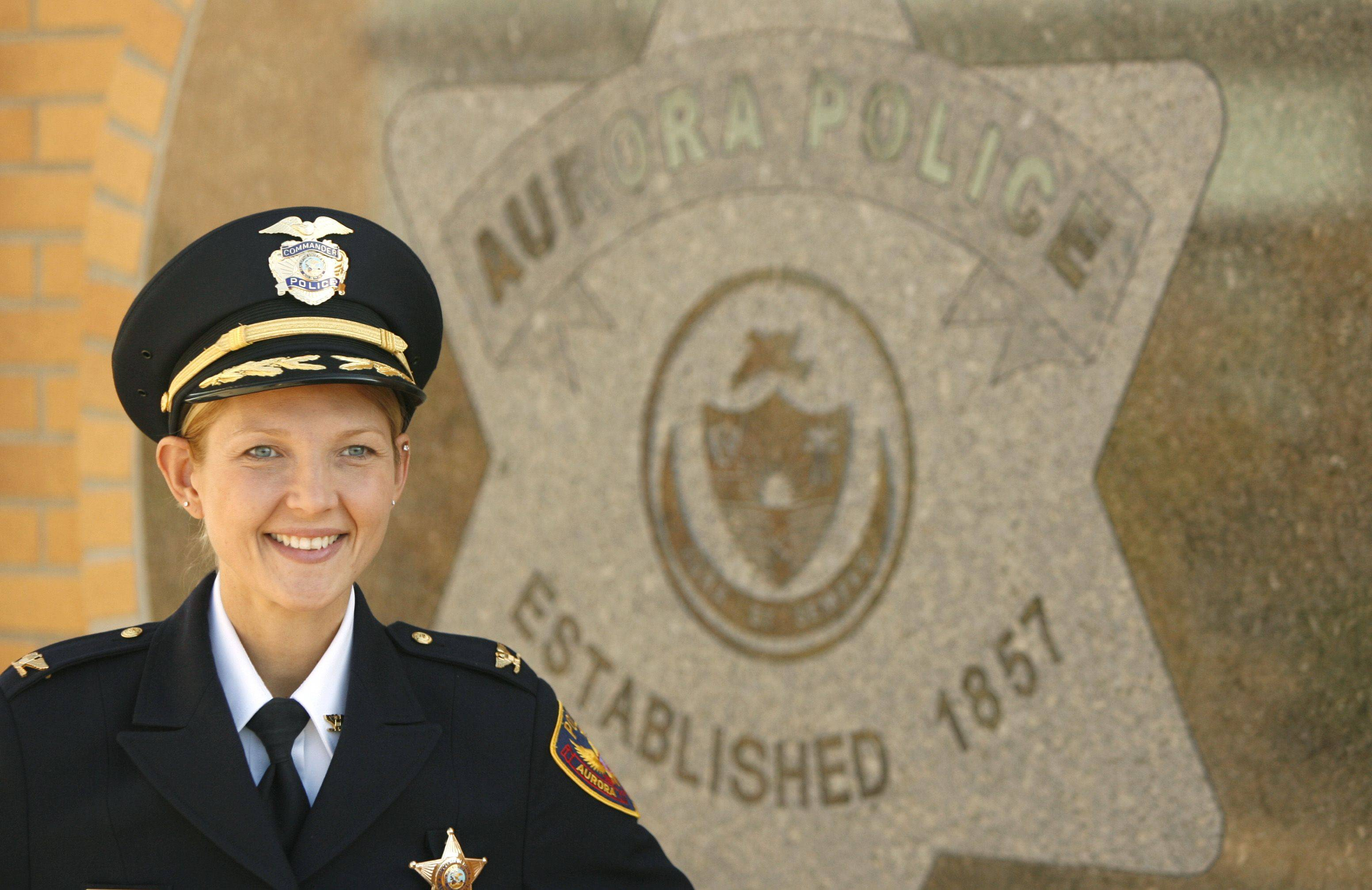 Kristen Ziman is the first woman to rise to the rank of commander in the Aurora Police Department.