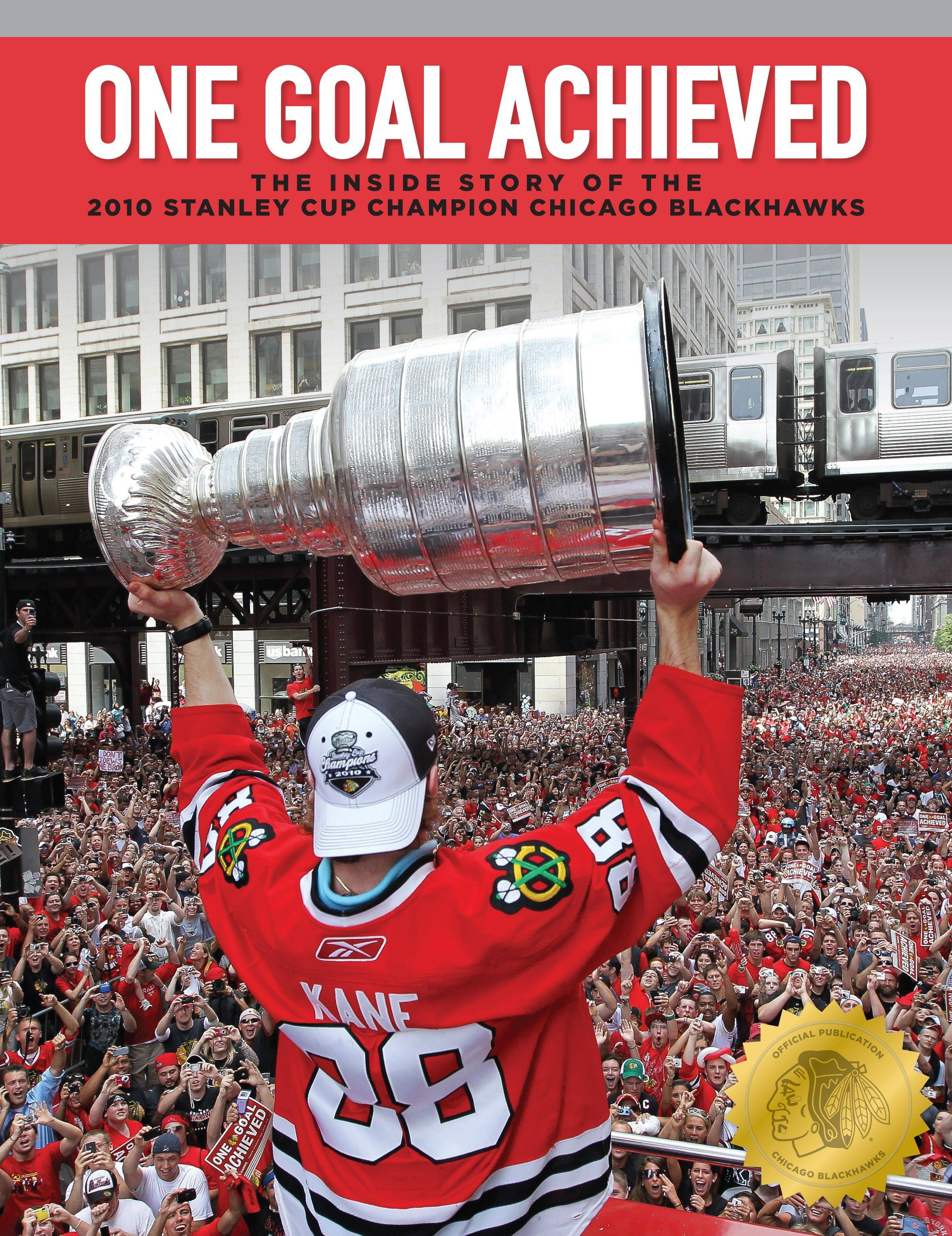 This new book, published by the Chicago Blackhawks (and distributed by Triumph Books, $39.95), features Patrick Kane on the front, Jonathan Toews on the back and a year's worth of memories and special moments within its 224 pages. It is available in stories Tuesday or at chicagoblackhawks.com.