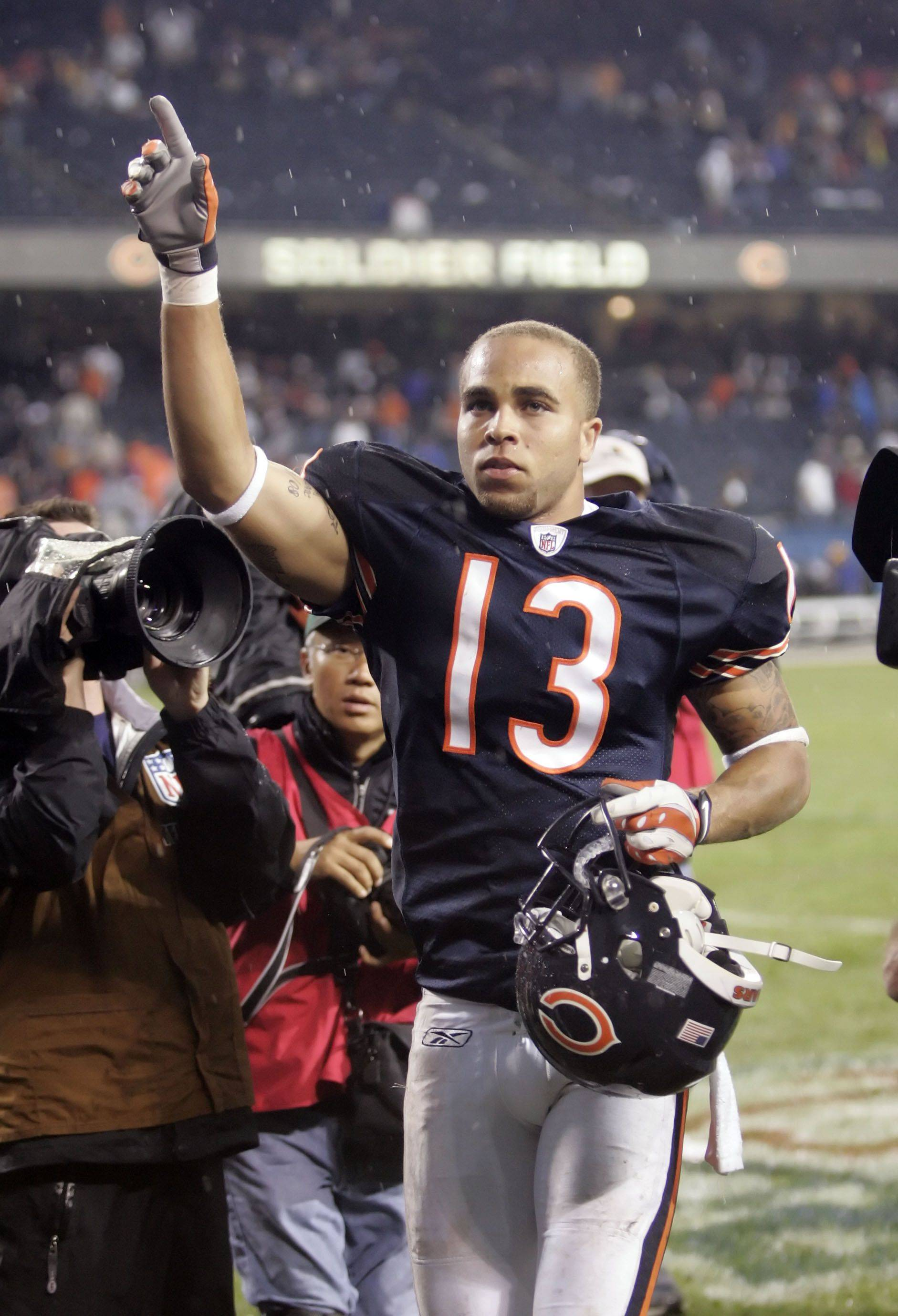 Johnny Knox leads the Bears with 672 receiving yards this season.