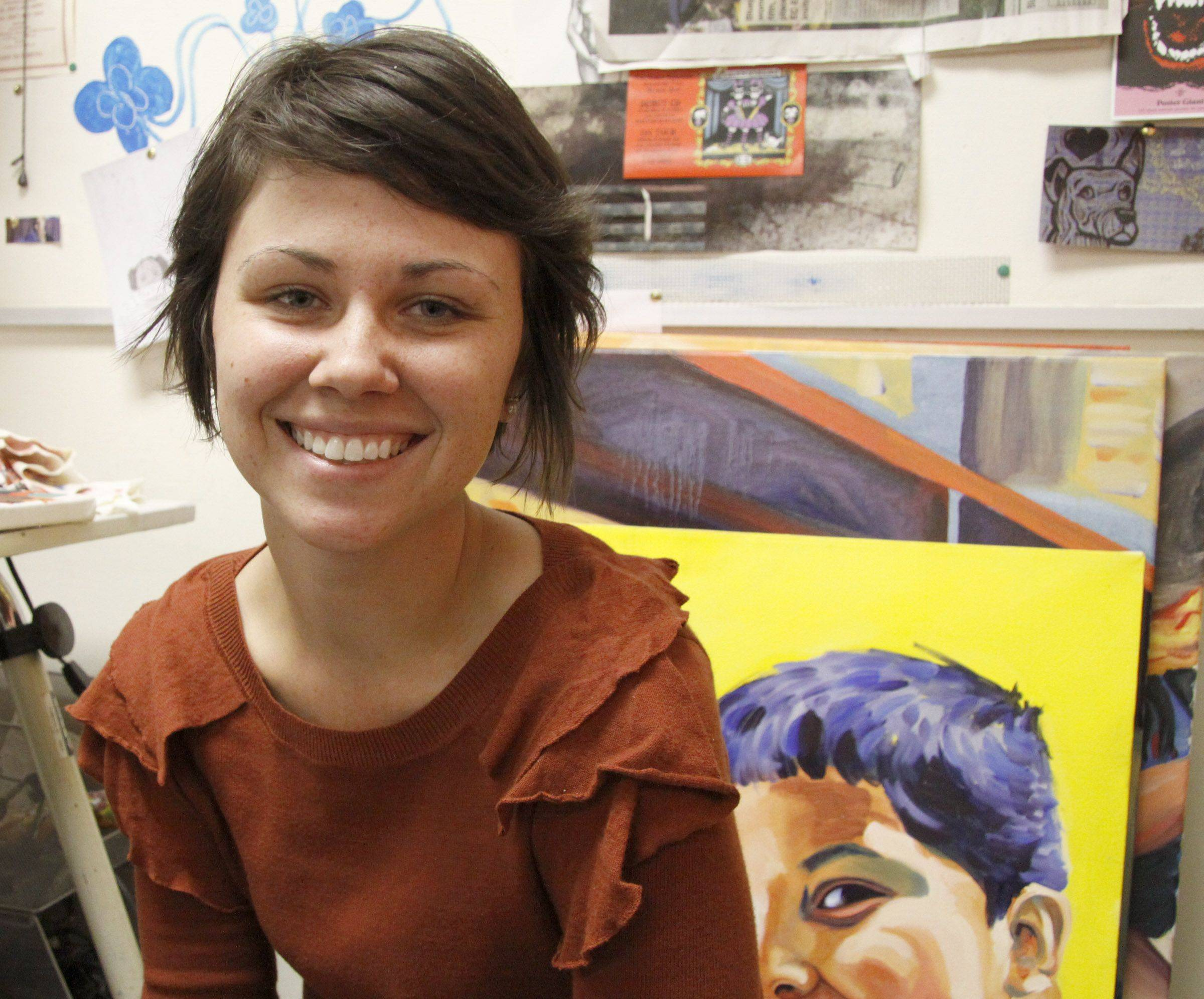 Elmhurst College student uses art to increase awareness for food bank