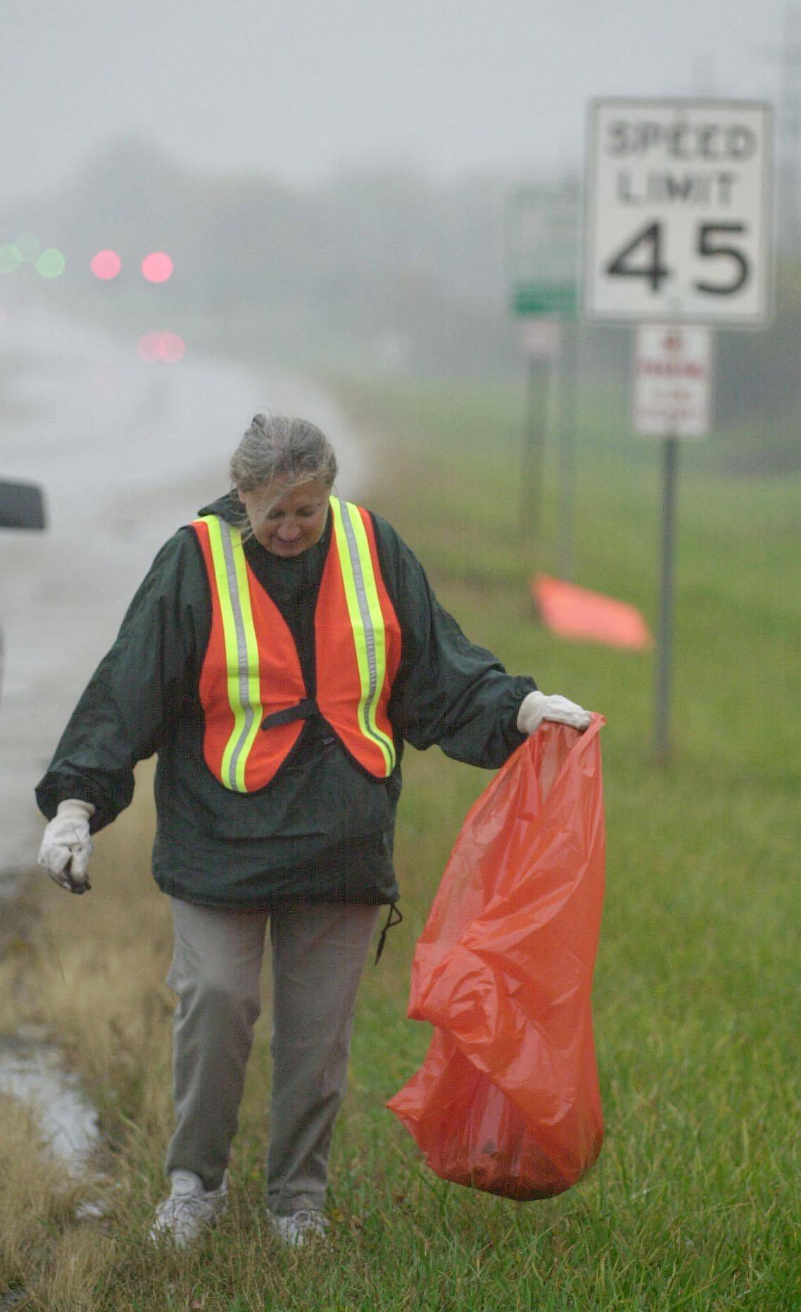Kay McKeen does more than just talk the talk when it comes to protecting the Earth  she'll get her hands dirty to clean up a roadside.