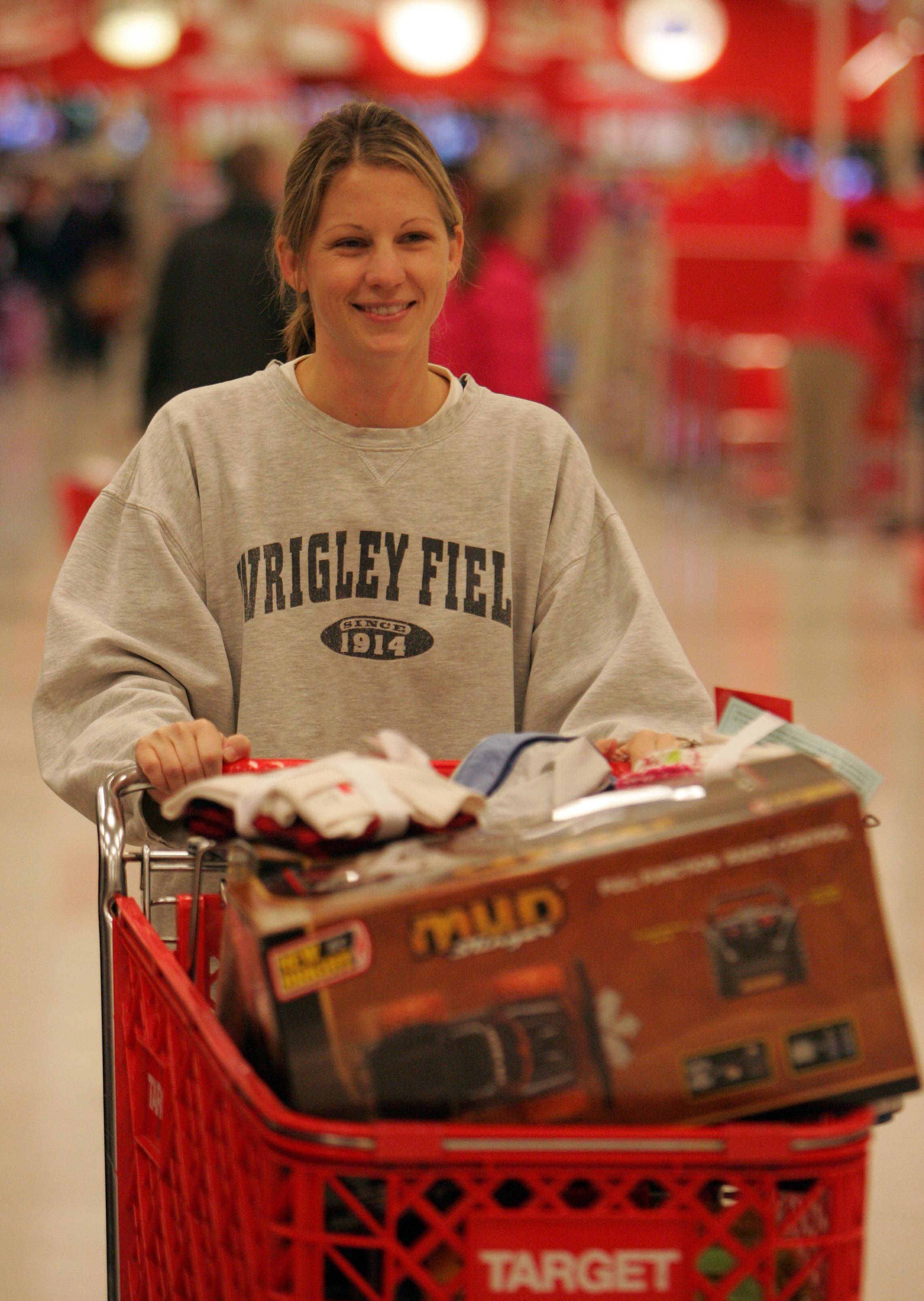Beth Heimbuch of South Elgin looks for some good deals at Target in South Elgin where more than 500 people lined up for the opening.