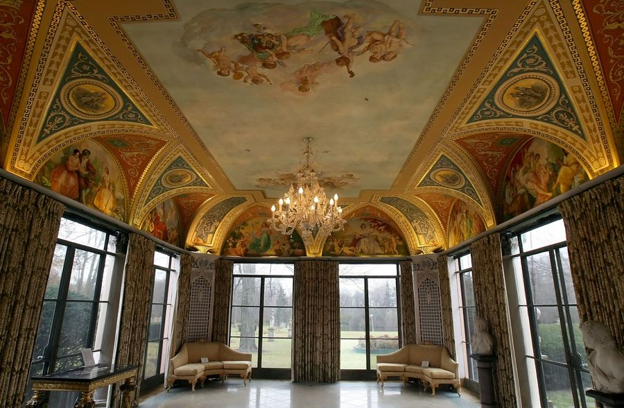 The 31,000-square-foot Cuneo Mansion in Vernon Hills has many ornate rooms and features.