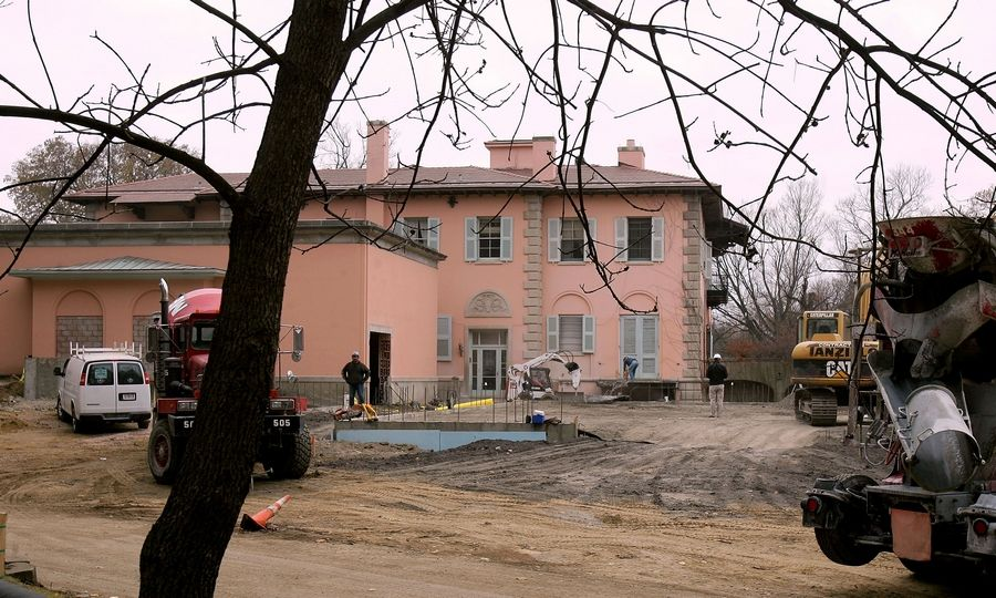 An all-season multipurpose pavilion is being built by Loyola University Chicago to blend into the original design of the nearly century old Cuneo mansion in Vernon Hills.