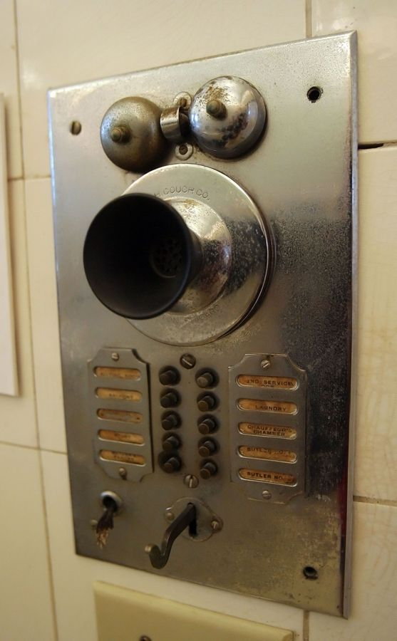 This antique intercom system is among the reminders of another era at the Cuneo Mansion in Vernon Hills.