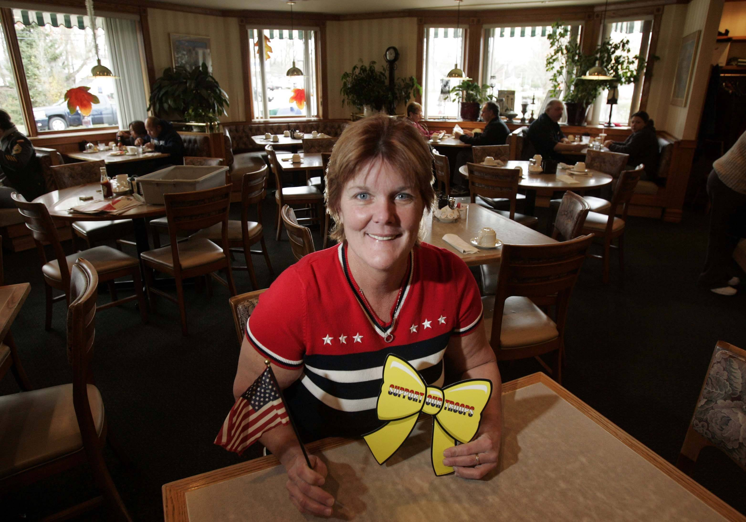 Lorrie Tucker of Paul's Restaurant in Elgin is collecting donations for the troops in Afghanistan through Dec. 1. Donations of candy, personal hygiene items and other small gifts are welcome.