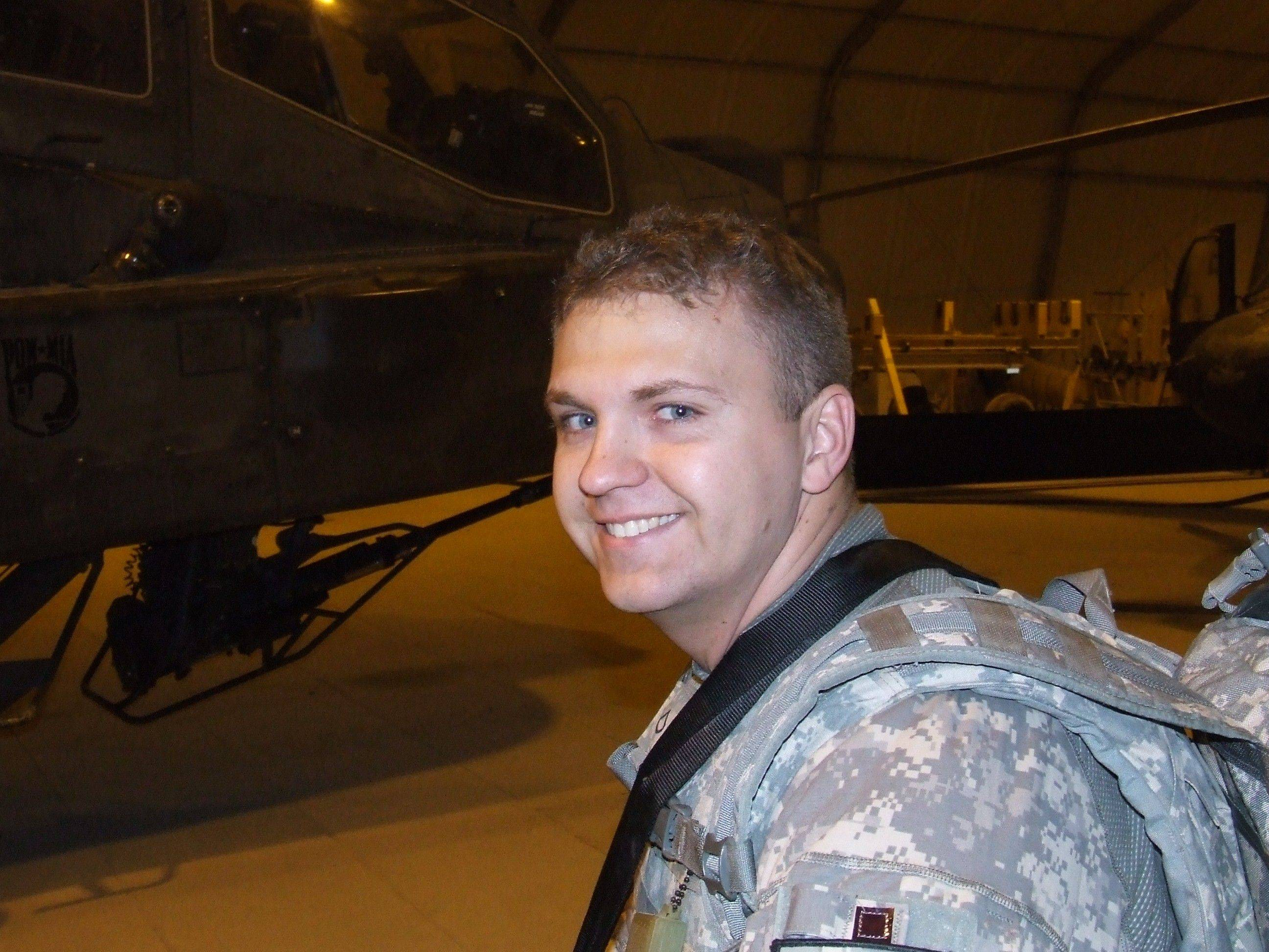 Lorrie Tucker's son-in-law, U.S. Army Private Brian Beuten, is a 2001 St. Edward High School graduate and is serving in Afghanistan.