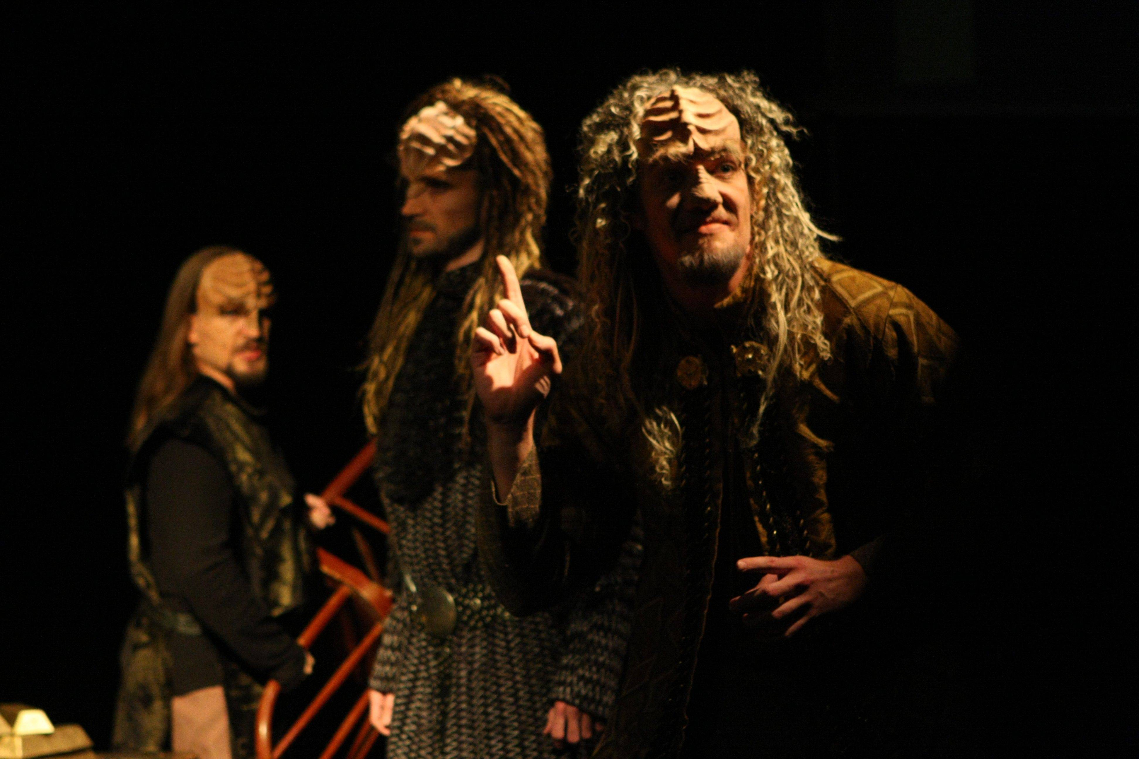 "Don't know Klingon? Don't worry. Commedia Beauregard's ""A Klingon Christmas Carol"" will include English supertitles."