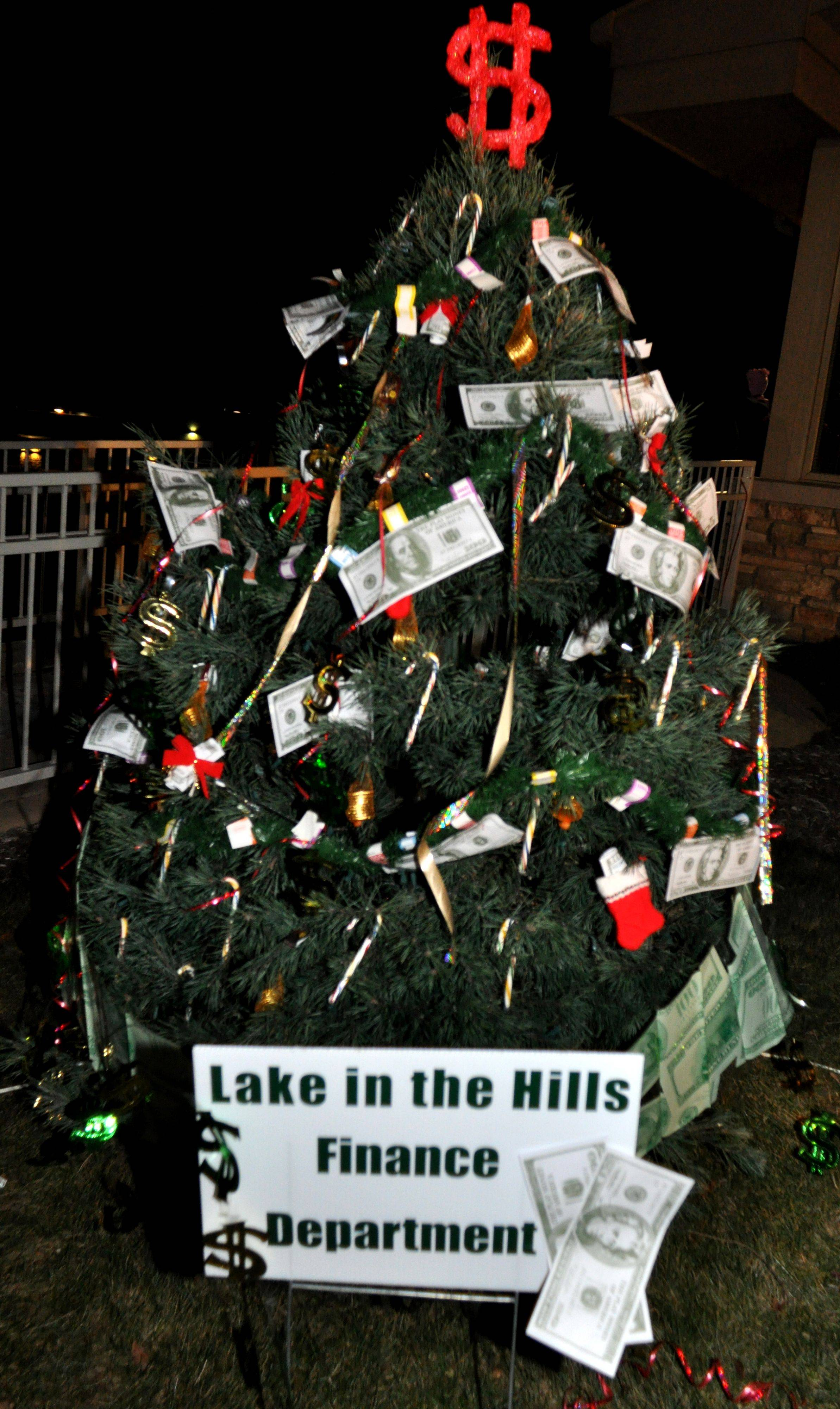 Several dozen trees were donated by local businesses and decorated by non-profit community groups in Lake in the Hills.