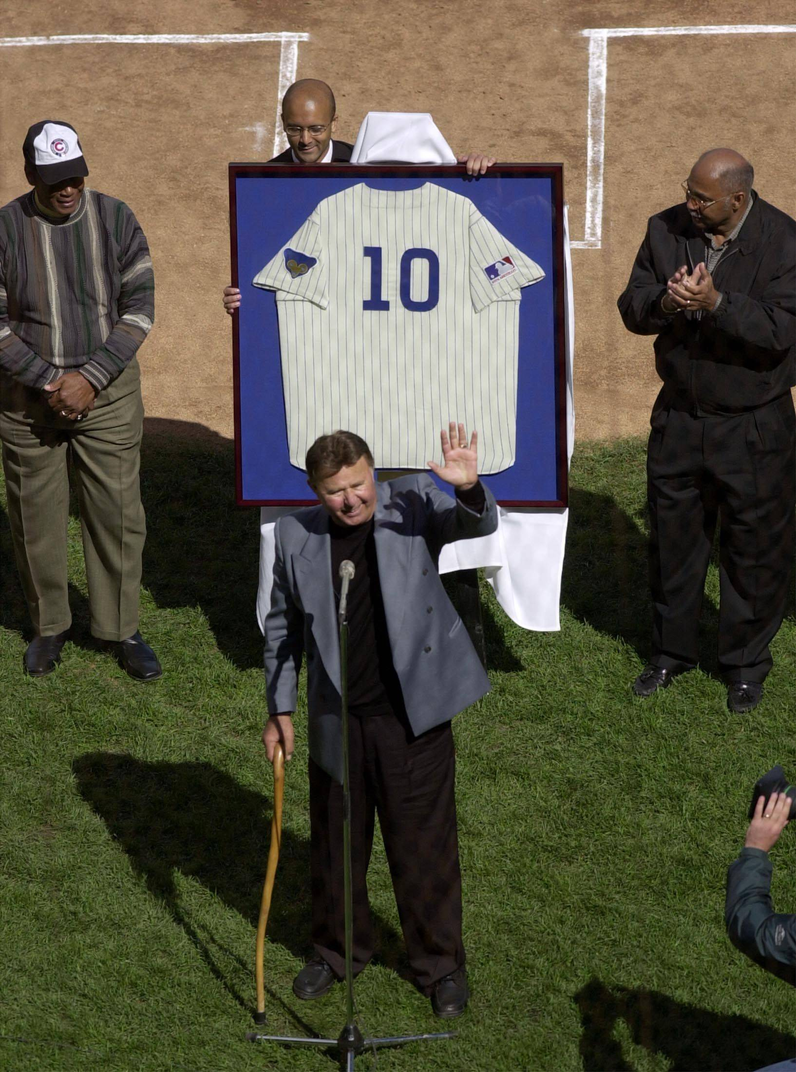 """Ronnie, number 10, was and always will be a Chicago legend. He was a tough player, he wanted to play and contribute every day, and he never let any obstacles stand in his way. -- Former teammate Ferguson Jenkins"