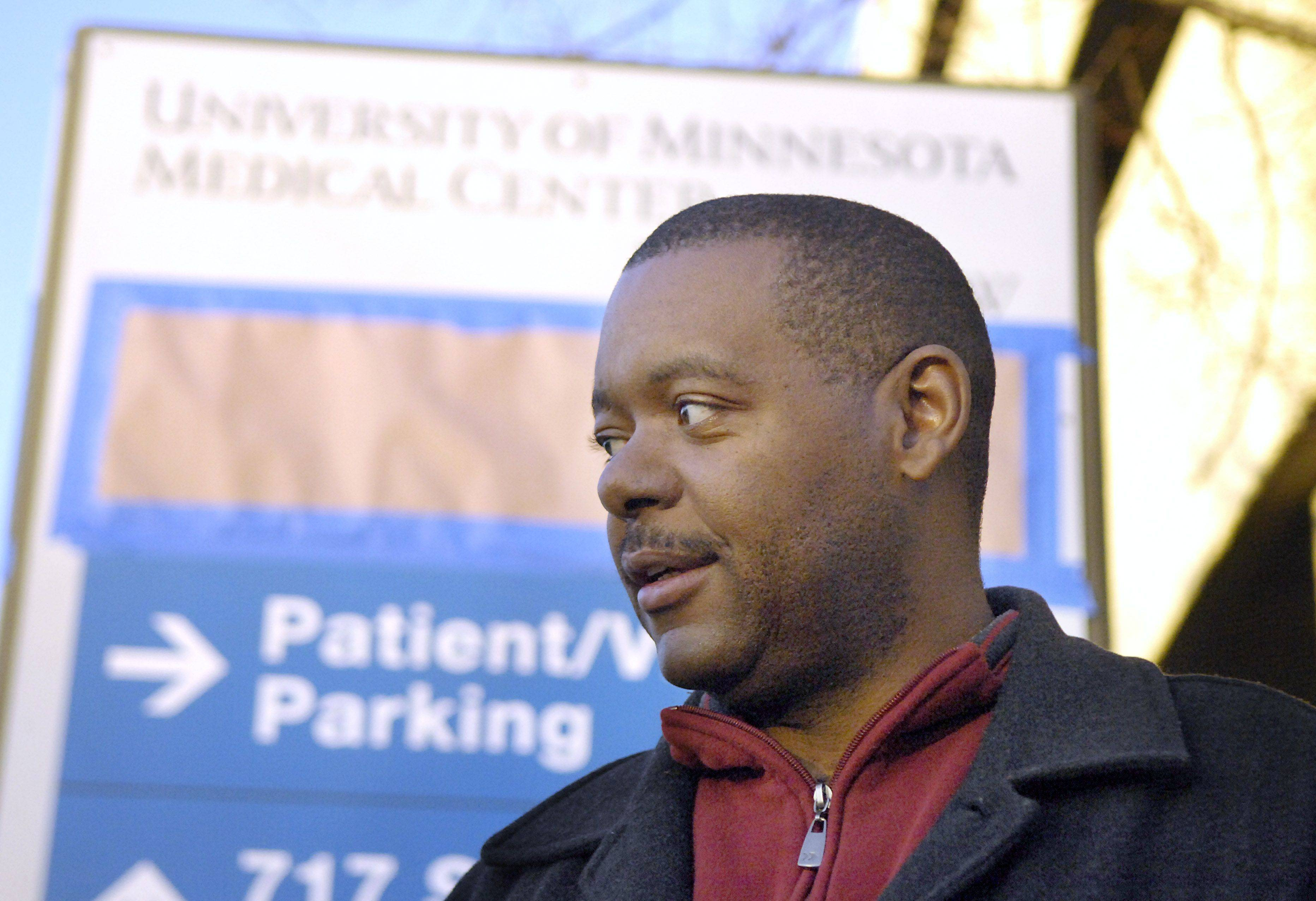 Eric Davis of Bartlett didn't realize there was a movie being filmed Friday when he went to the old Sherman Hospital to get some blood work done.