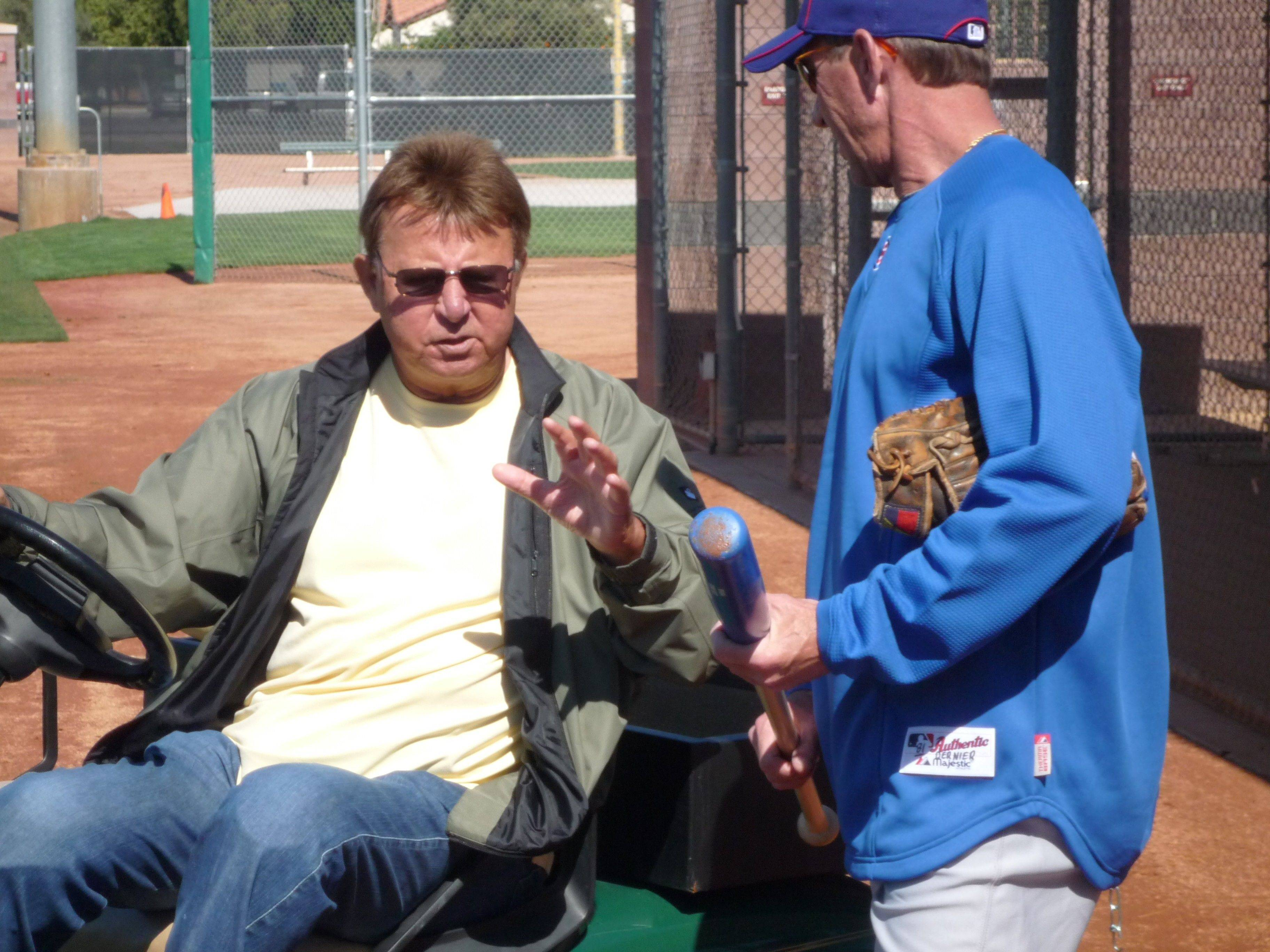 After Ron Santo made the rounds at Fitch Park last spring to chat with Cubs outfield instructor Bob Dernier and others, he sat down with Daily Herald writer Bruce Miles to talk about how excited he was to turn 70 and having beaten the odds.