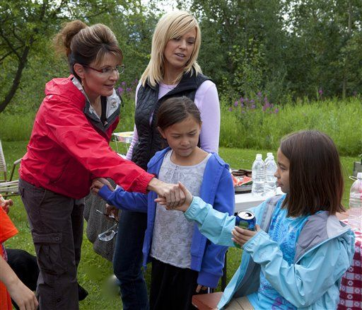 Palin goes camping with Kate plus 8 Gosselin kids