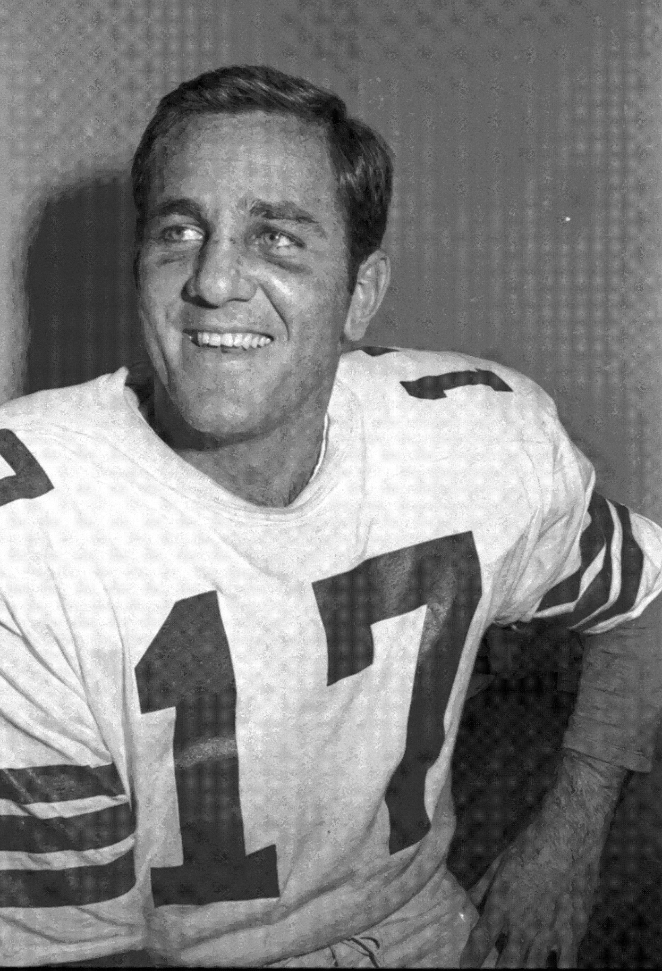 This Dec. 14, 1967, file photo shows Dallas Cowboys quarterback Don Meredith, in Dallas.