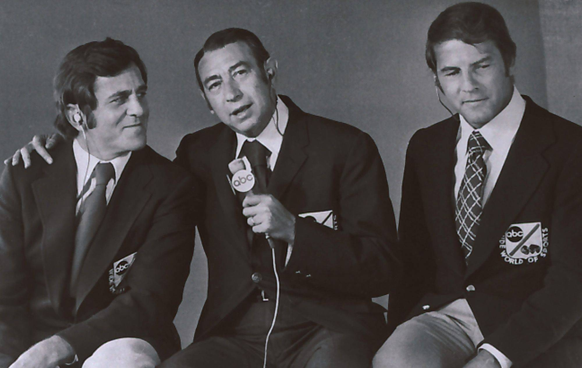"This Jan. 1972, photo provided by ABC, shows, from left, Don Meredith, Howard Cosell and Frank Gifford. Meredith, one of the most recognizable figures of the early Dallas Cowboys and an original member of ABC's ""Monday Night Football"" broadcast team, died Sunday, Dec. 5, 2010, in Santa Fe, N.M., He was 72."