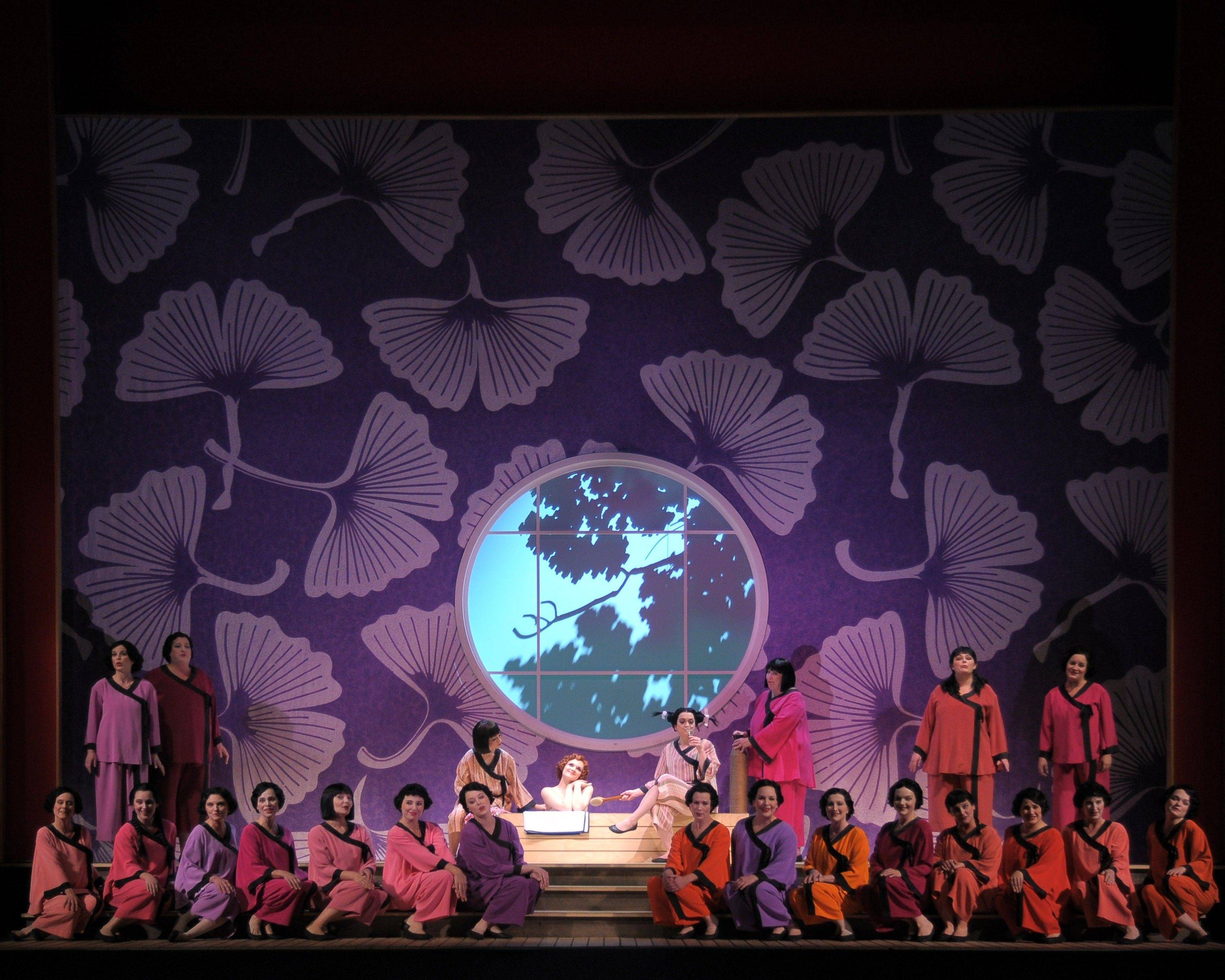"Yum-Yum (Andriana Chuchman, in tub) is serenaded by the women's chorus as she prepares for her wedding day in the Lyric Opera of Chicago's new production of Gilbert and Sullivan's 1885 comic operetta ""The Mikado."""