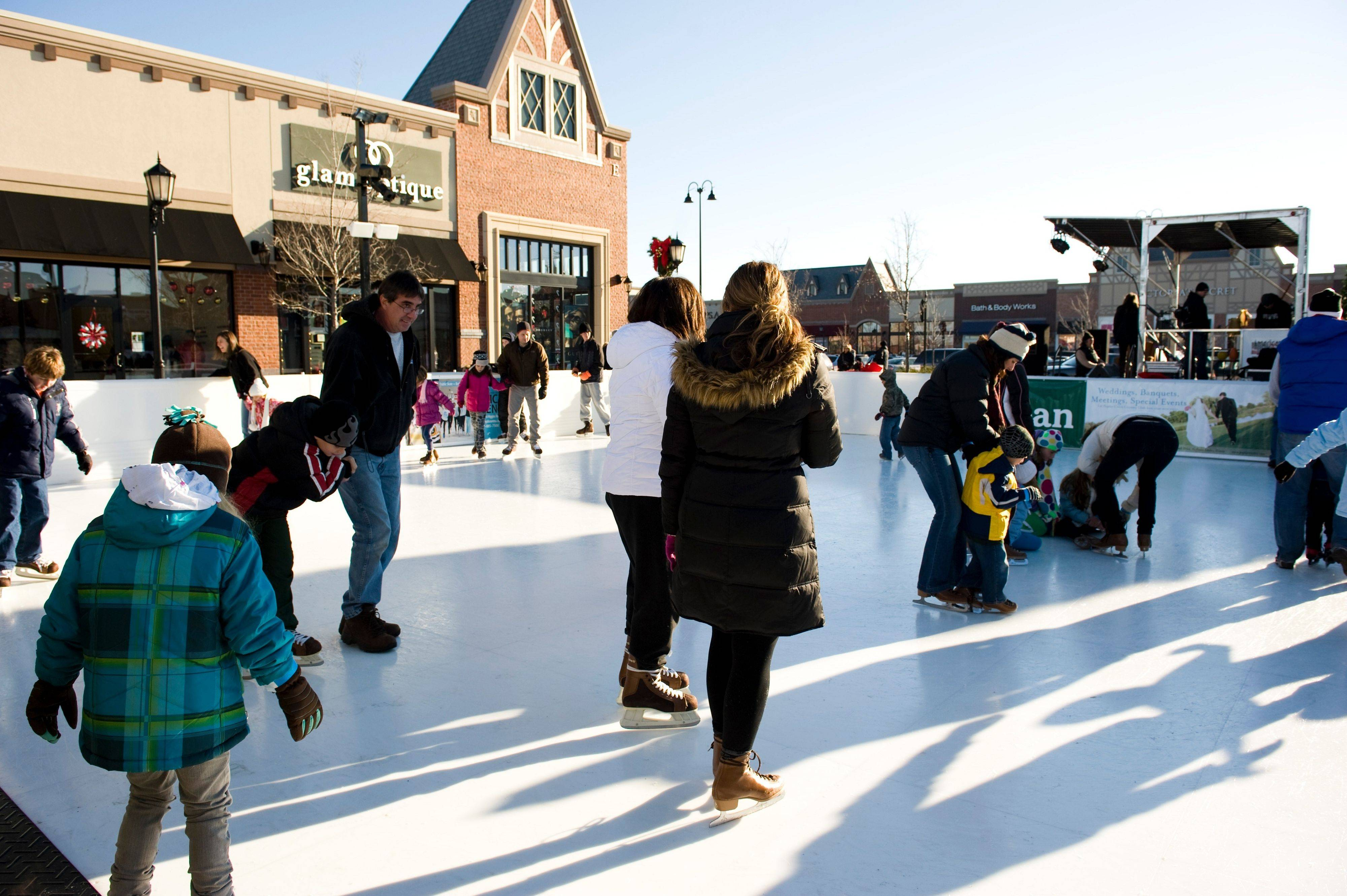 The Arboretum of South Barrington opened their first outdoor skating rink last month.