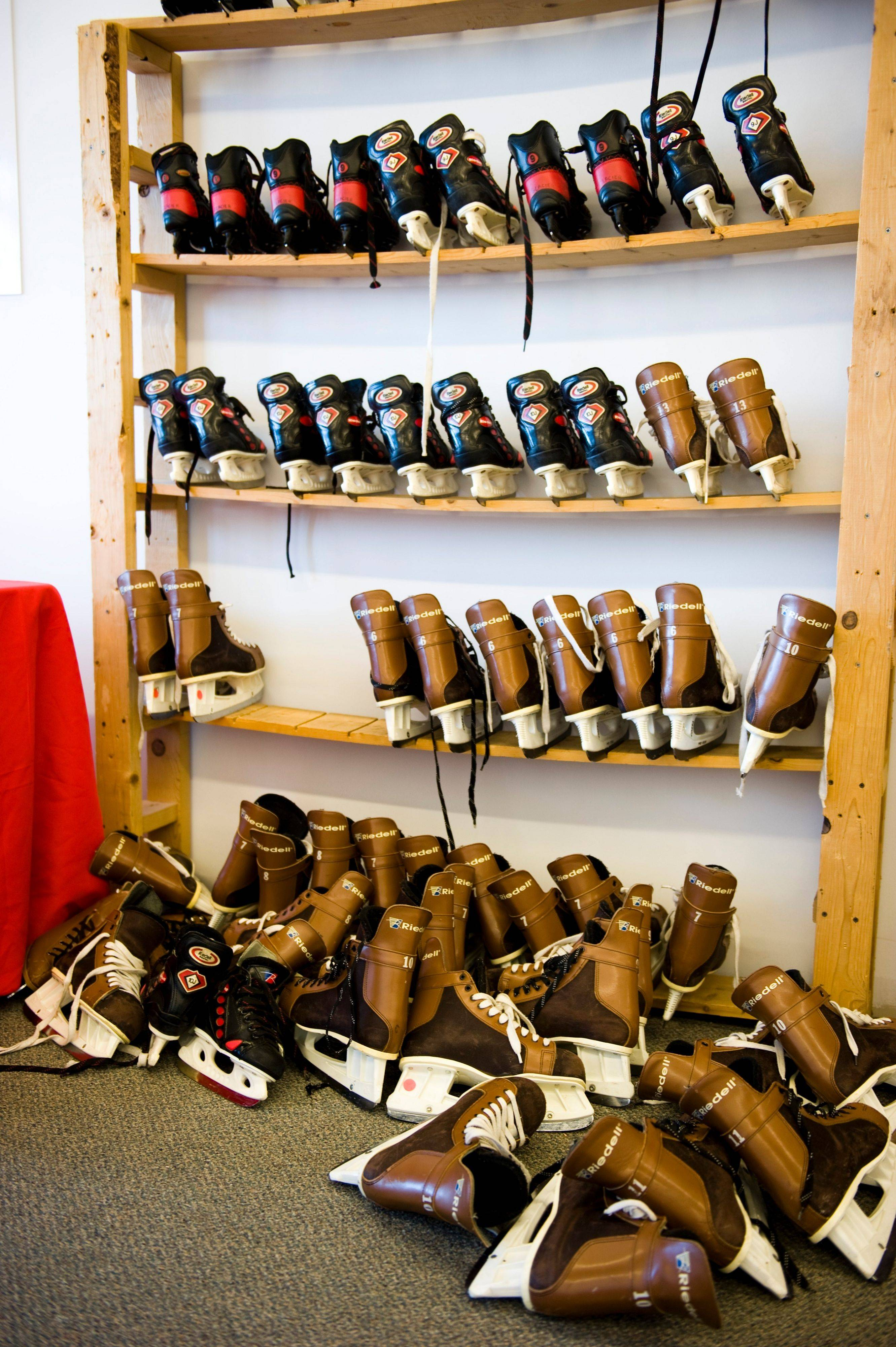 Don't have skates of your own? No problem. The Arboretum of South Barrington includes a pair with your skating fee.
