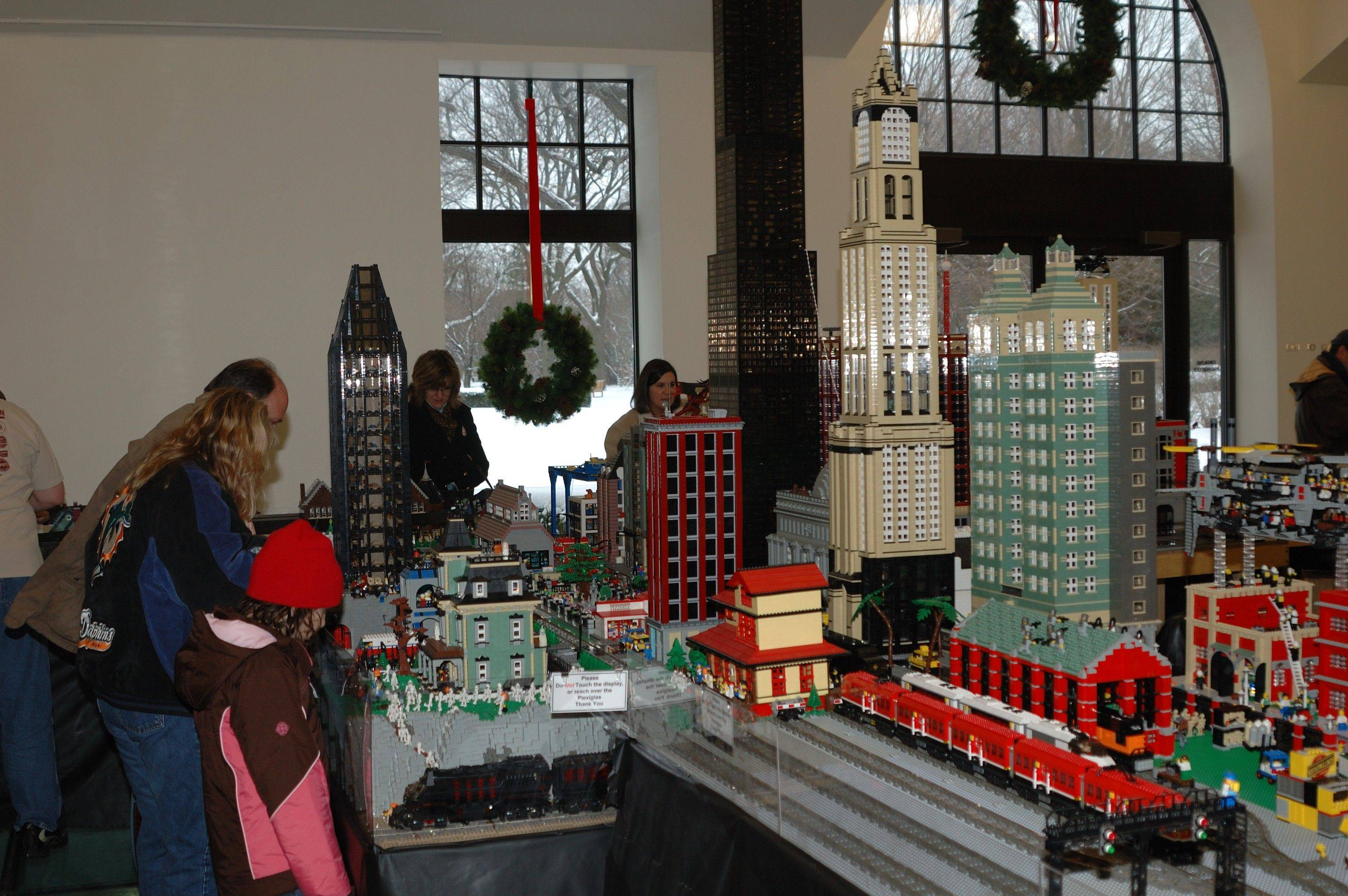 Visitors will have more room to explore the displays this year as the Lego Train Show has expanded throughout the Cantigny Visitors Center.
