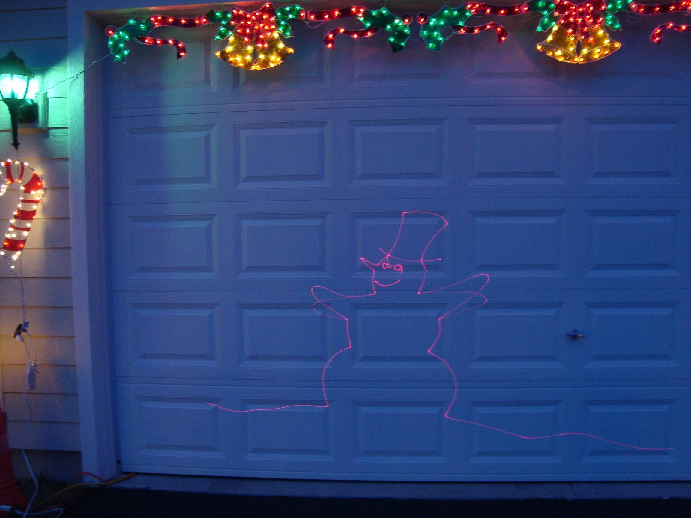 The Hurley display at 582 Wexford Drive in Elgin also features a 20-minute laser light show on the garage door.
