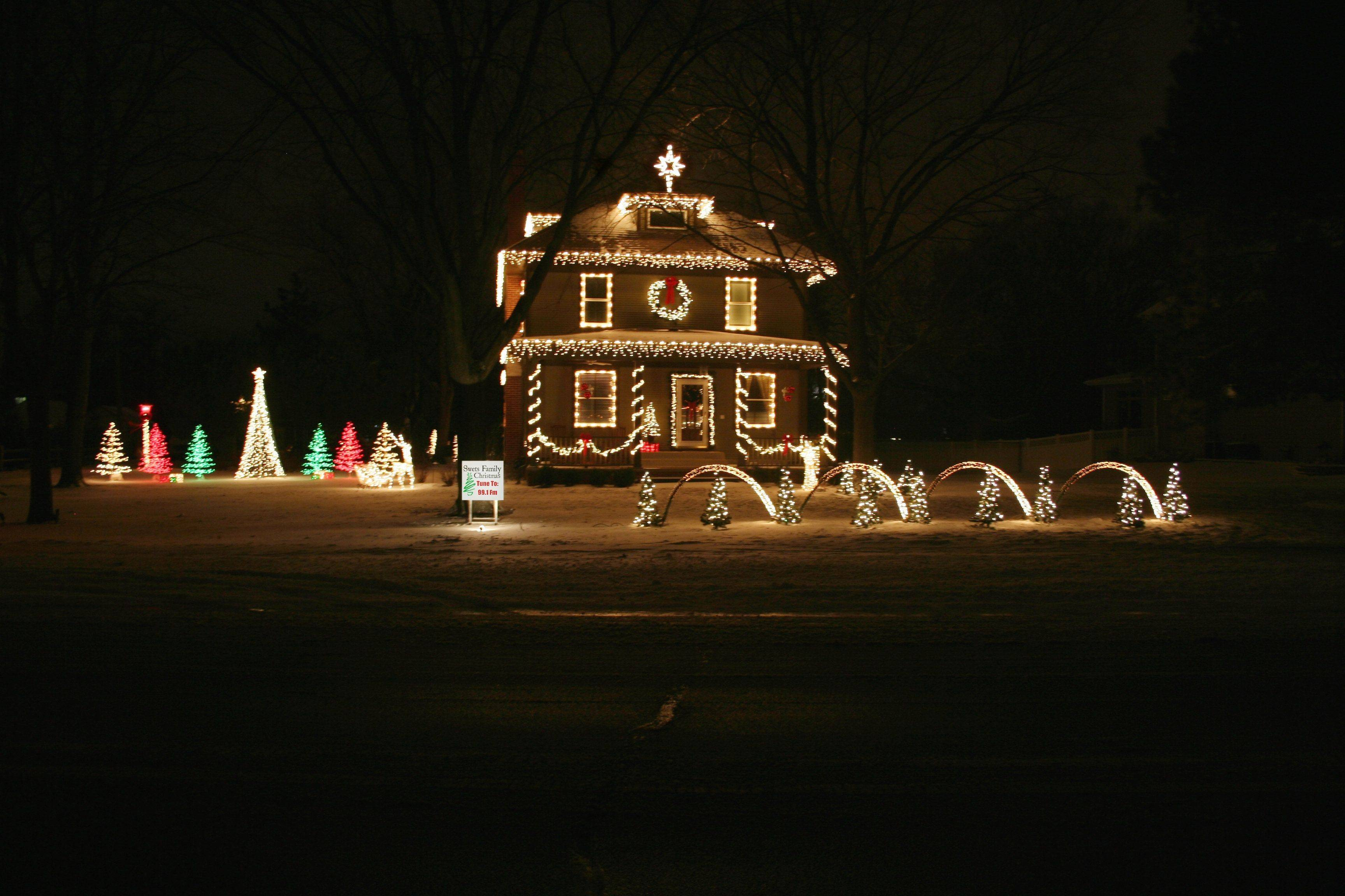 Eric Swets' home at 516 N. Arlington Heights Road in Itasca casts a warm holiday glow.