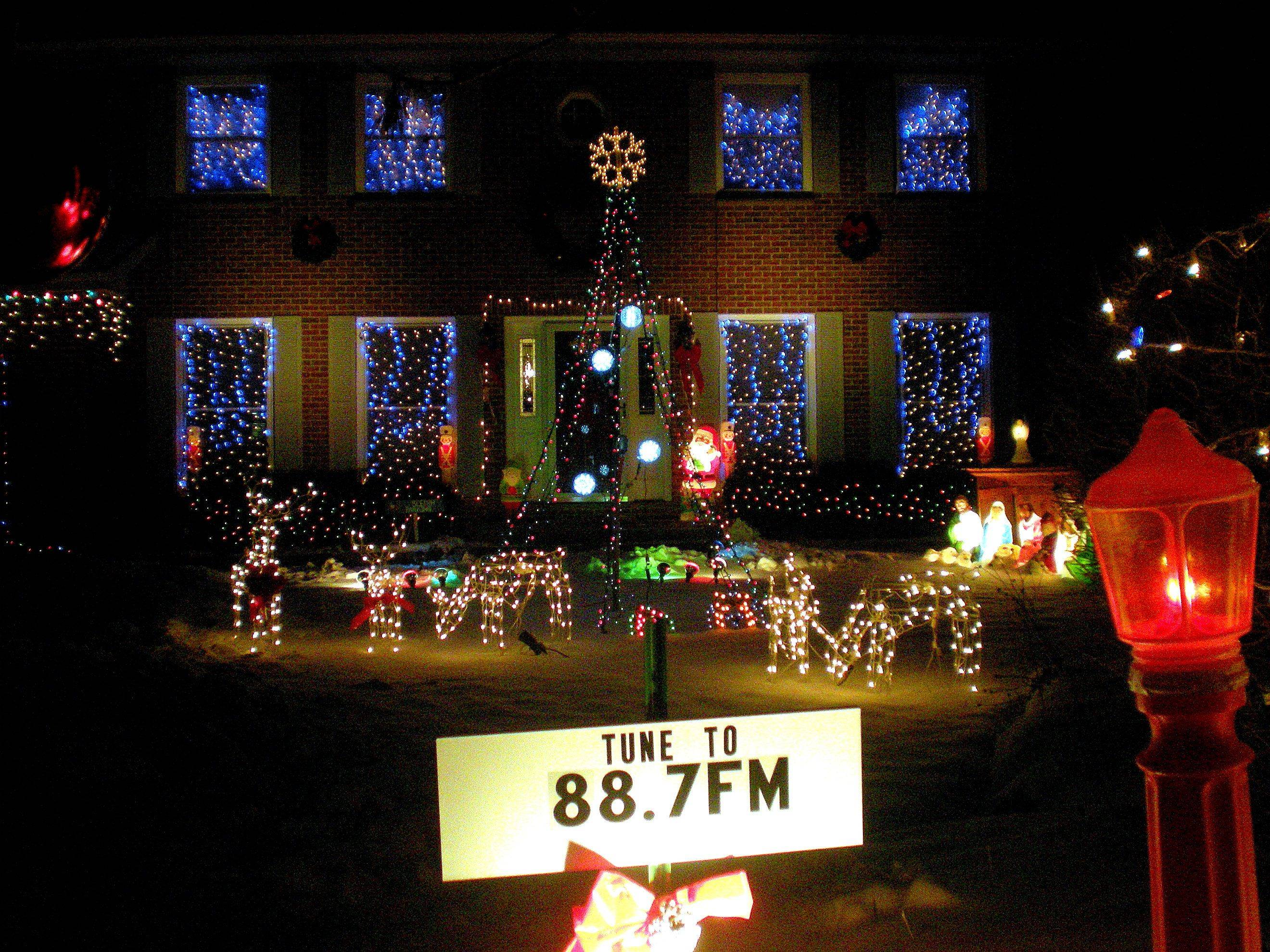 At Charlie Suhling's home at 4285 Crabtree Court in Gurnee, the display is run by a computer and the lights are synced to music.