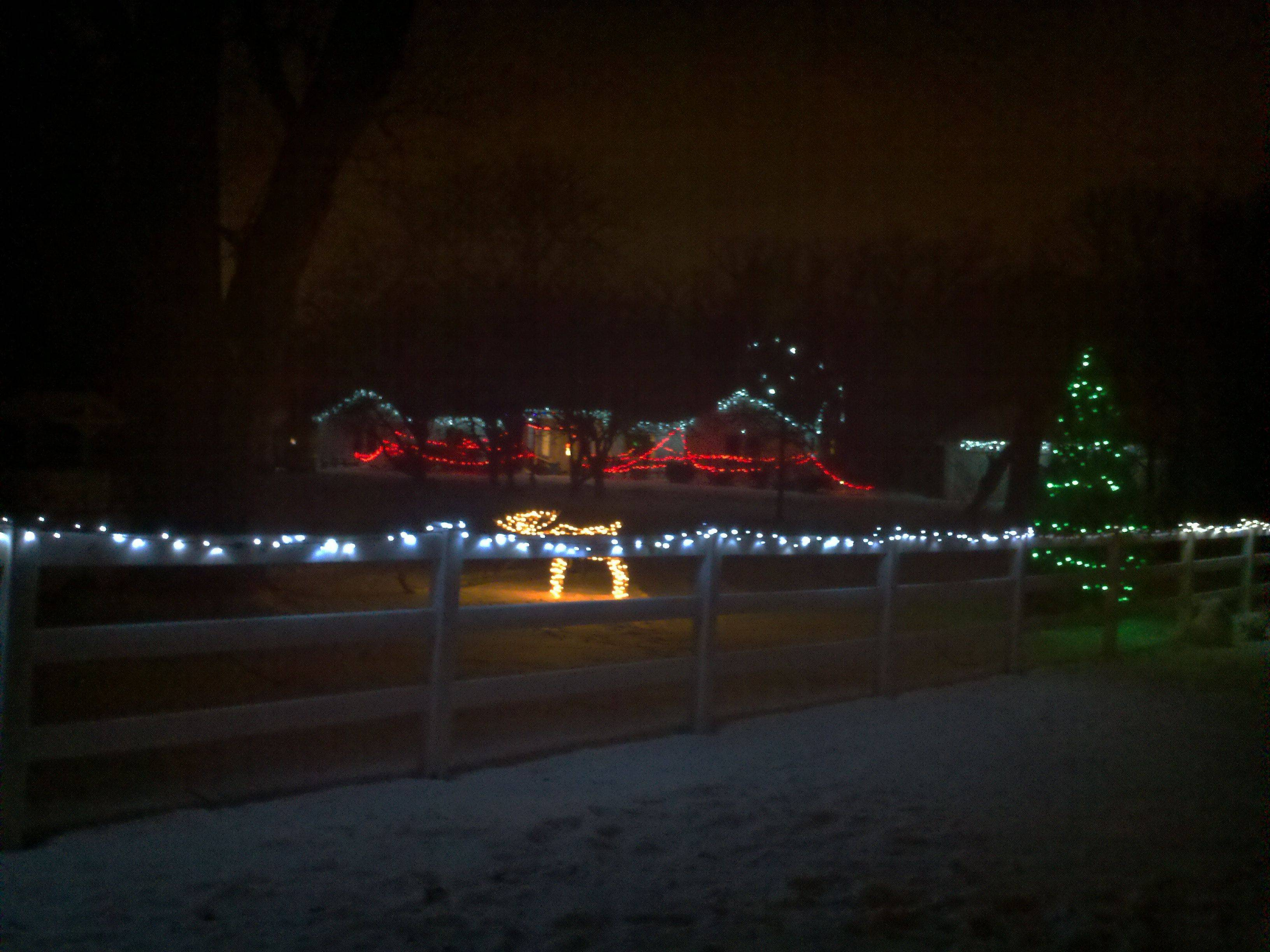 The lights stretch far and wide at Lisa Beckwith's home at 26W254 Wiesbrook Road in Wheaton.