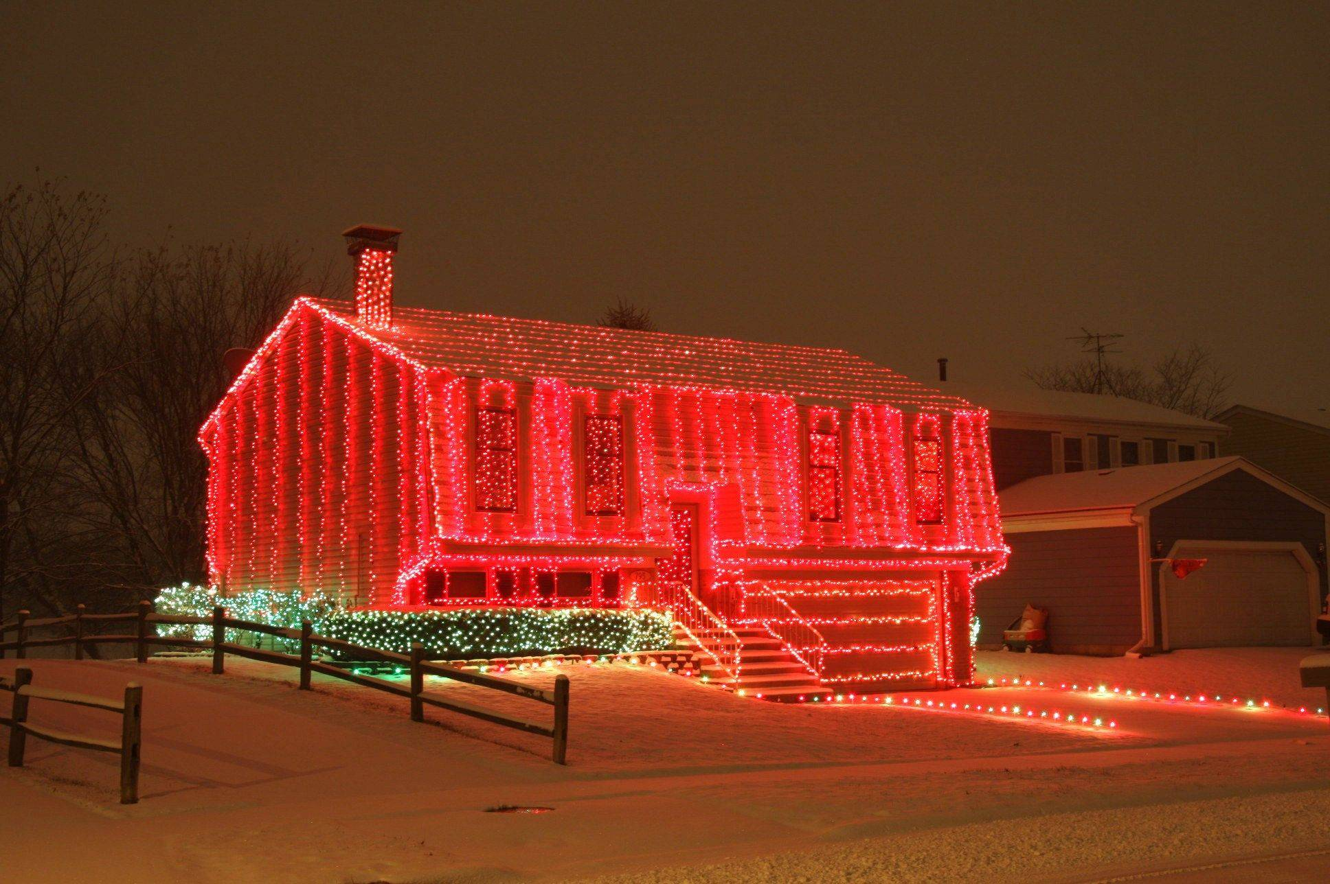 21,125 lights cover all four sides and the roof of the Ransdell home at 795 W. Bryn Mawr Ave. in Roselle.