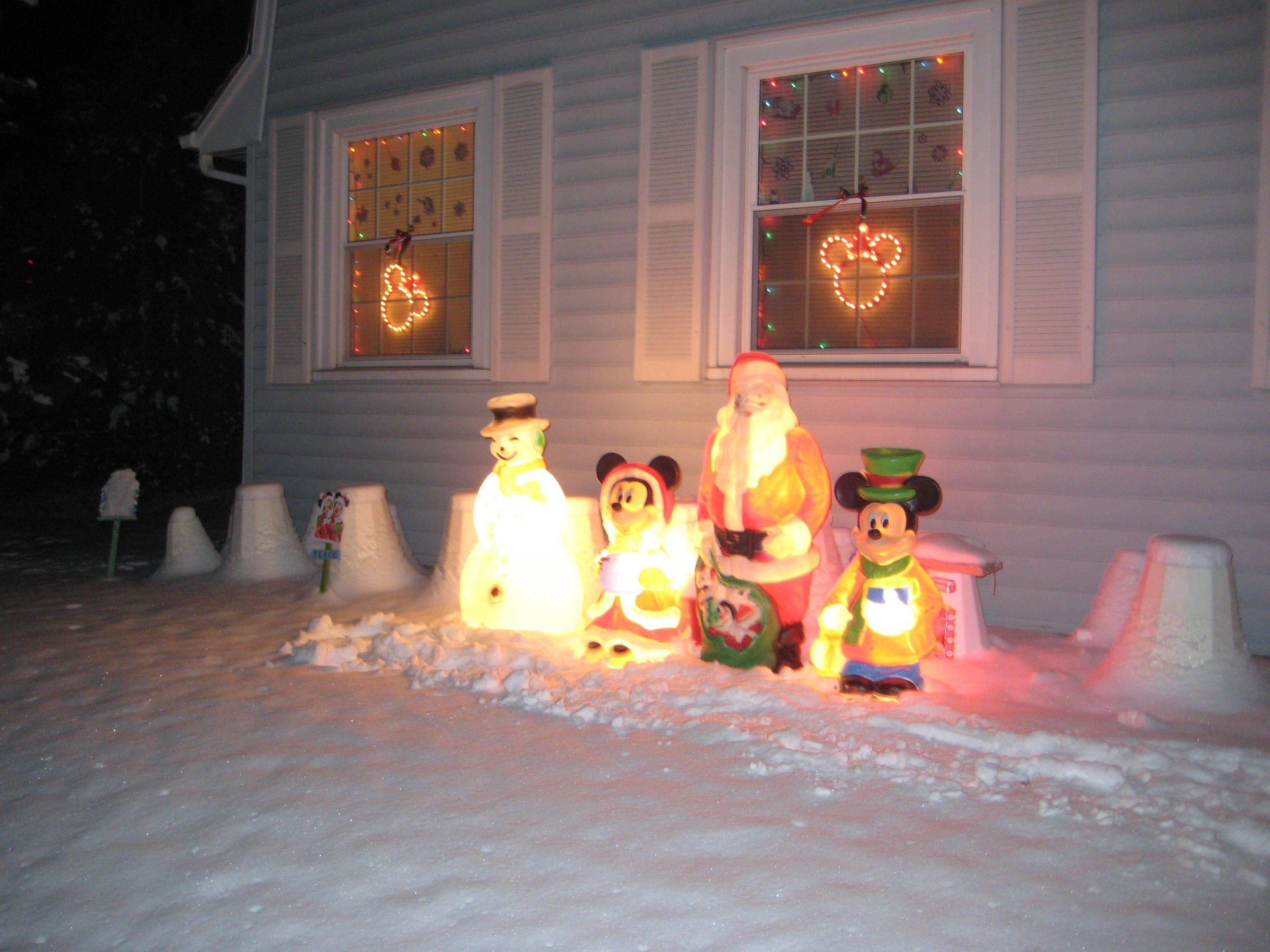 Mickey and Minnie are also part of the display at the Schaus home at 510 N. Arlington Heights Road in Itasca.