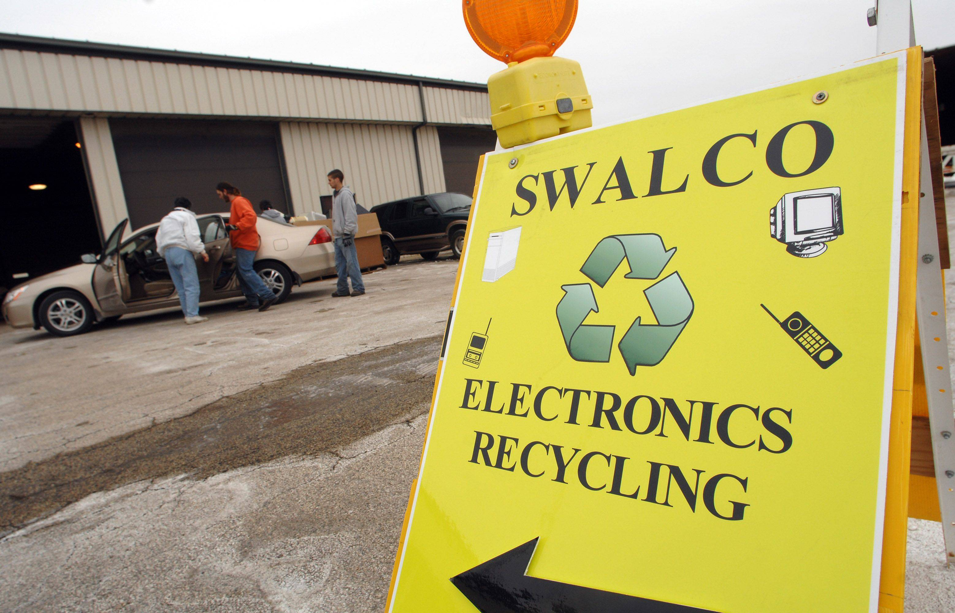 The Round Lake Beach public works garage once every two months is a drop off site for electronic waste.