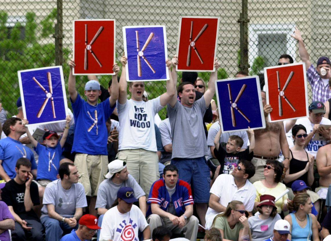 "Kerry Wood ""K"" signs - Daily Herald"