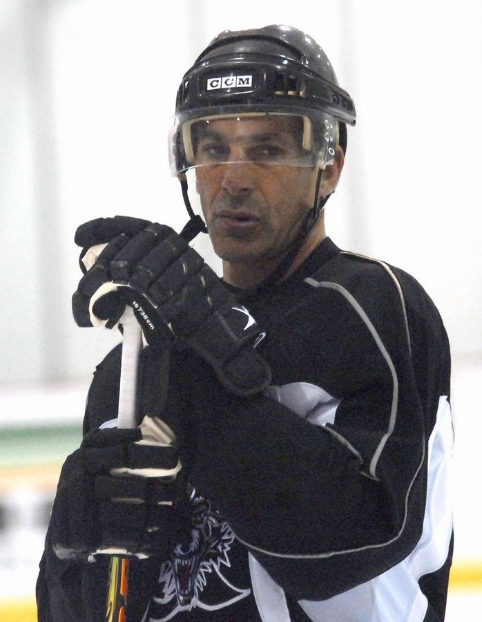 f686d93cd8f Former Blackhawk Chris Chelios, seen here in 2009, who also played for the  Detroit
