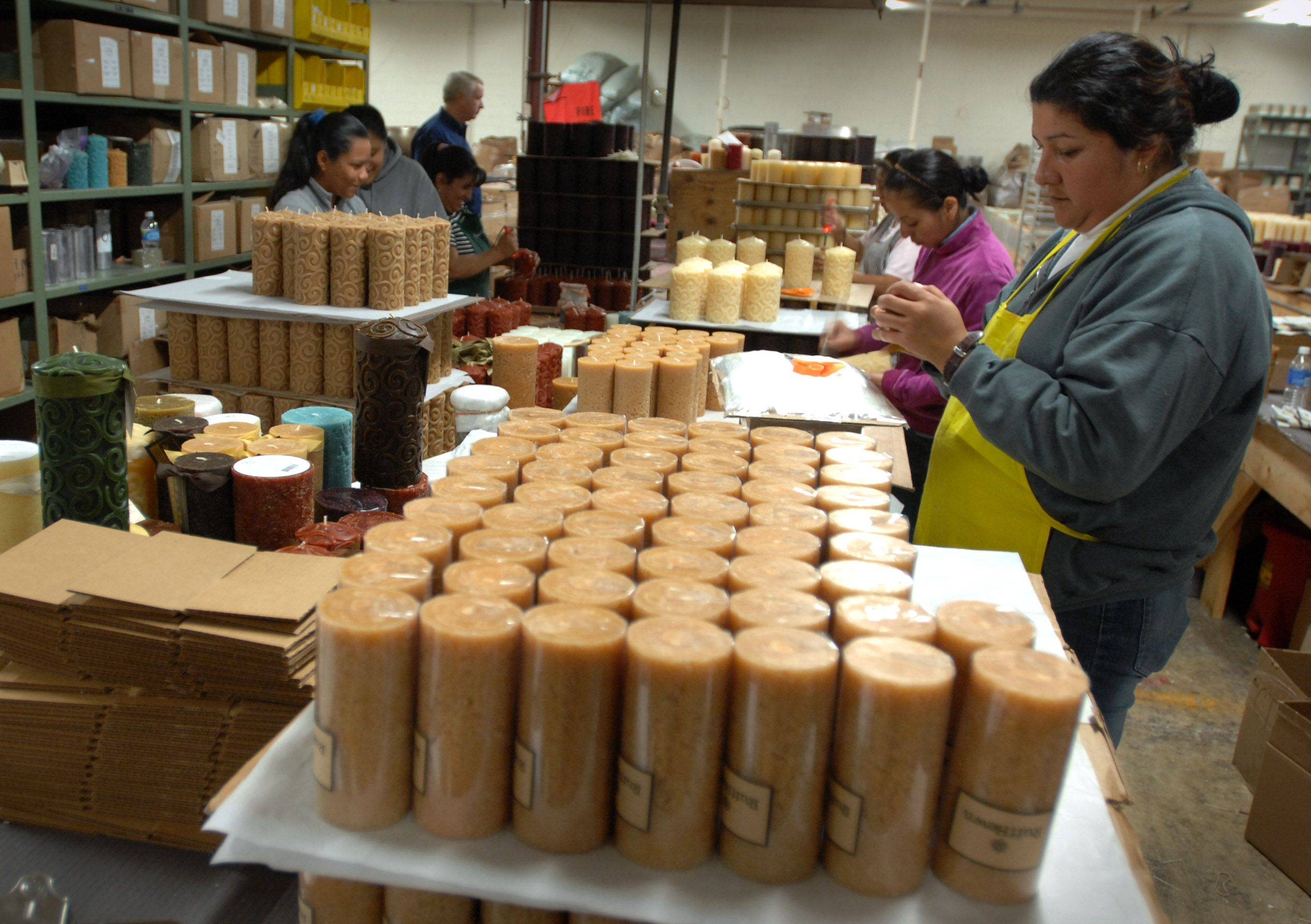 Candles were made by hand at the Heaventree Candle Company in Lake Zurich before it closed in November.
