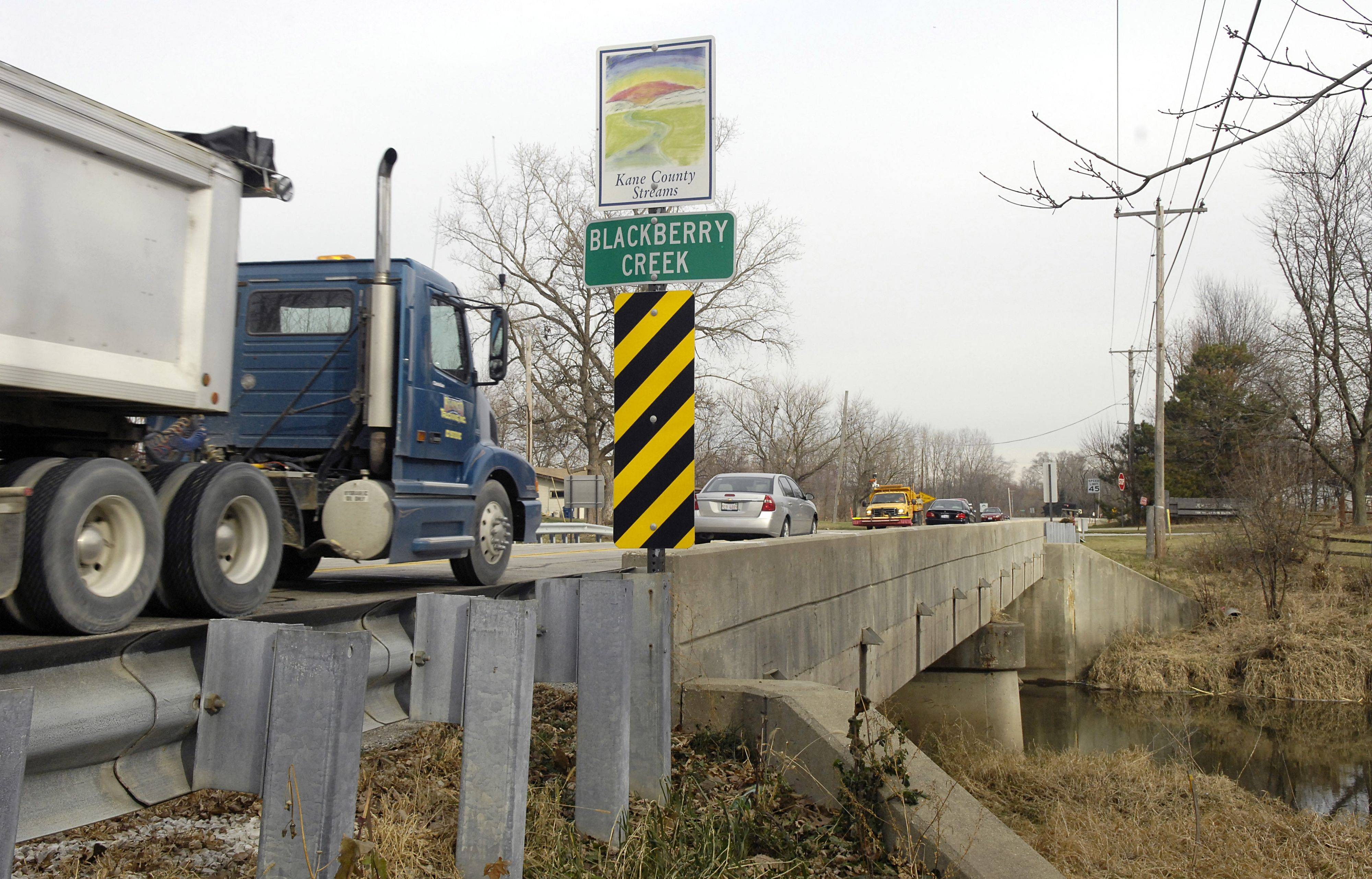 The Jericho Road bridge over Blackberry Creek in Sugar Grove is one of 293 rated structurally deficient in the six-county Chicago and suburban region. Inspections show it's in serious condition.