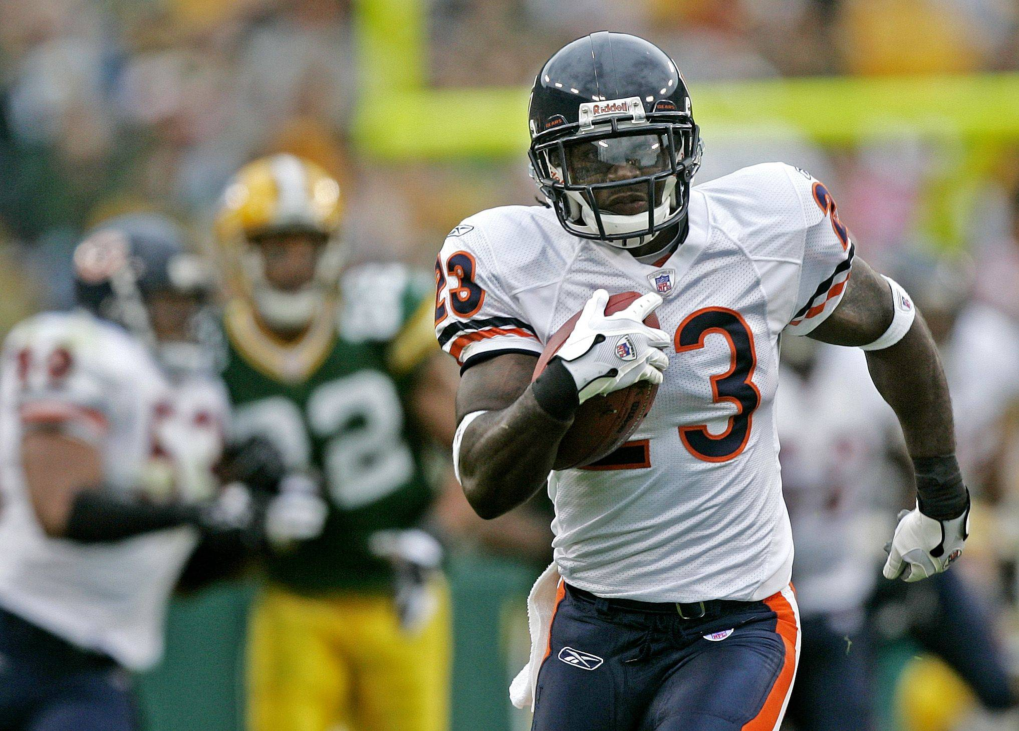 No. 1: Devin Hester breaks away for an 84-yard touchdown on a punt return against the Green Bay Packers on Sept. 10, 2006, in Green Bay.