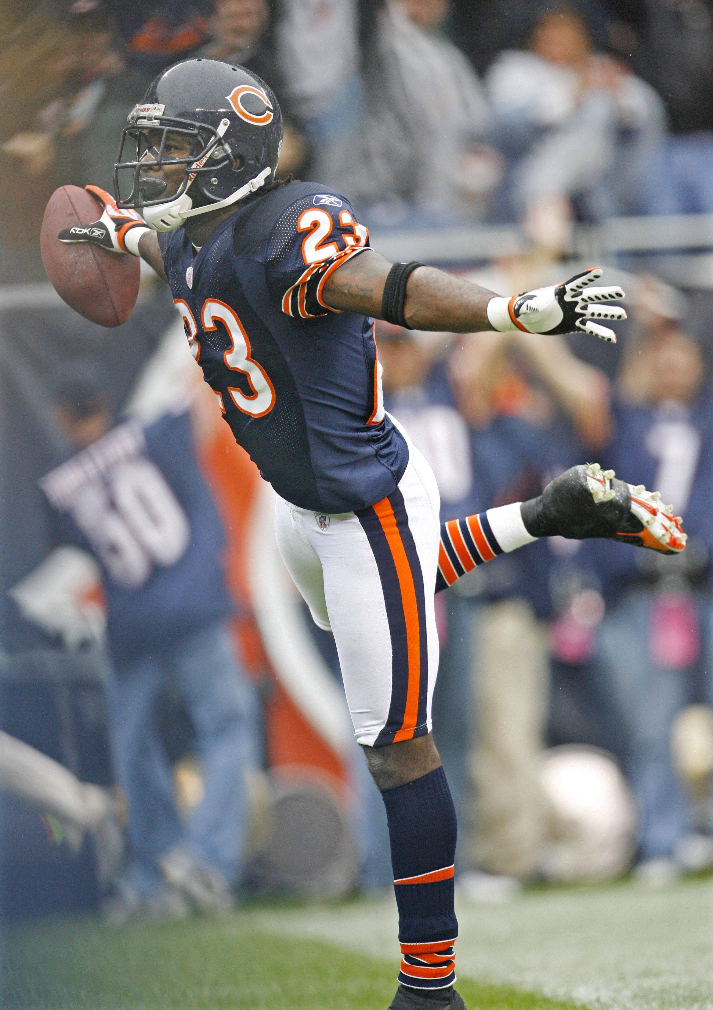 No. 9: Devin Hester returns a punt 89 yards for a touchdown against the Minnesota Vikings on Oct. 14, 2007, at Soldier Field in Chicago.