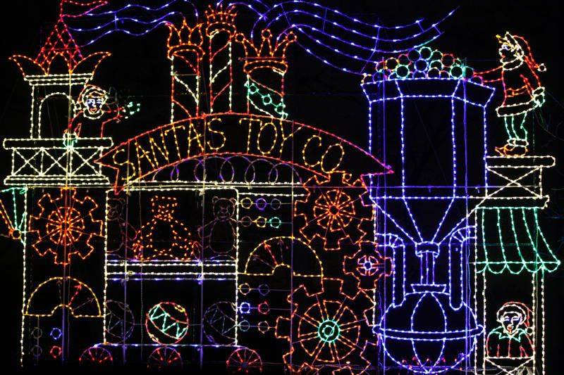 This is one of the many light displays at the annual Festival of Lights at Phillips Park in Aurora.
