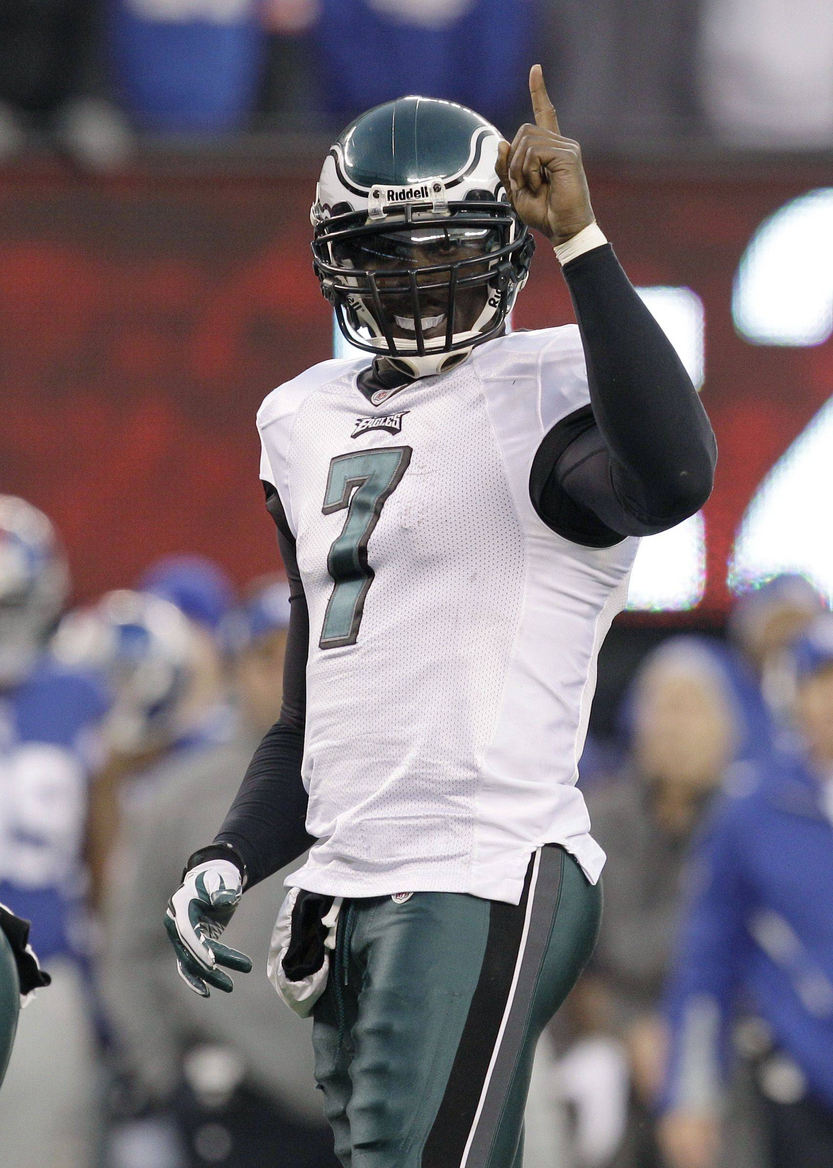 Philadelphia Eagles quarterback Michael Vick likely will be a first-round pick in many fantasy football drafts next season. He leads the NFL in fantasy scoring this year.