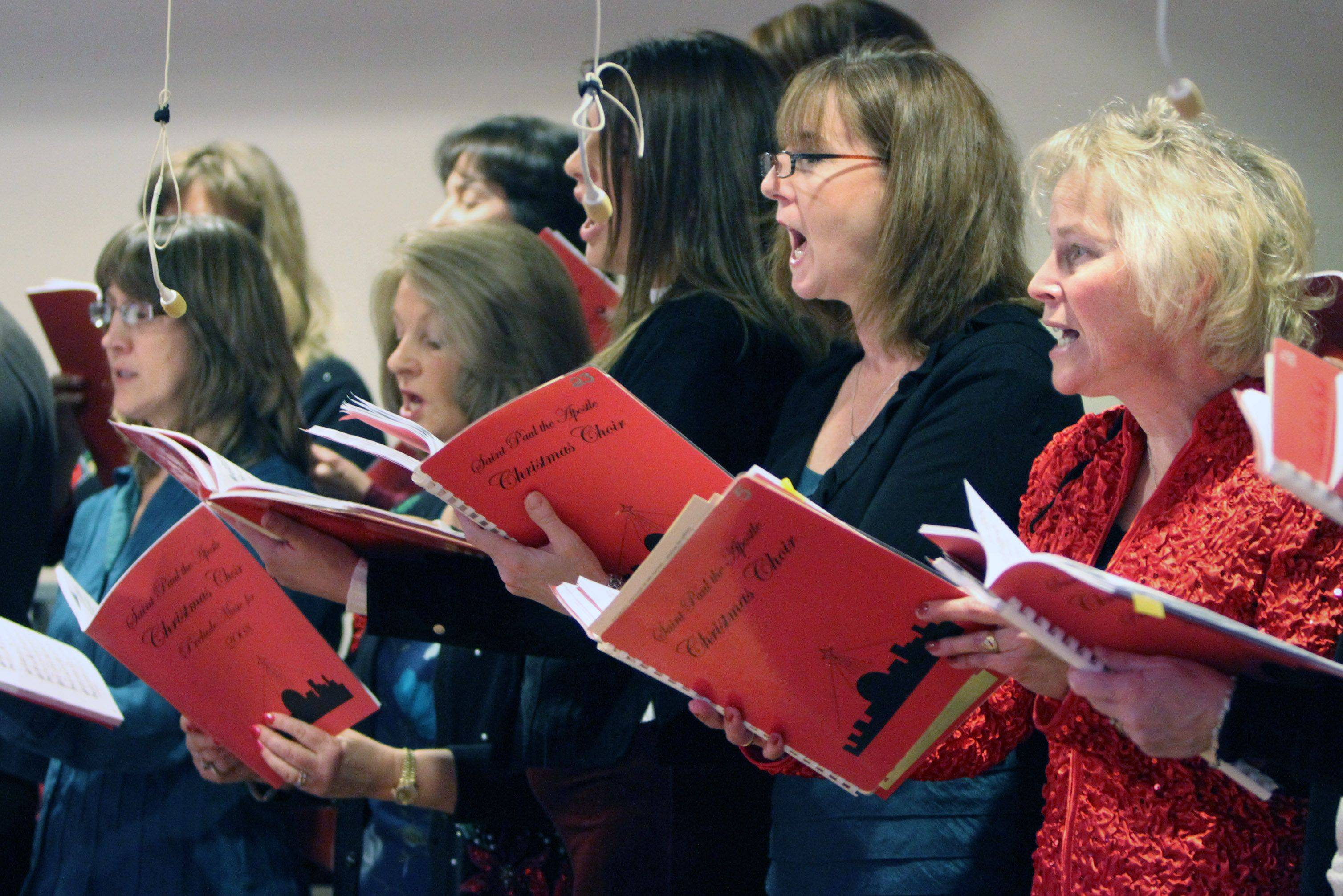 St. Paul the Apostle Catholic Church held Christmas carols and hand bell music before mass on Christmas Eve in Gurnee.