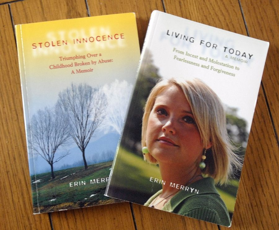 Merryn, winner of the Daily Herald's Suburban Newsmaker of the Year contest, wrote two books on her experiences with childhood sexual abuse.