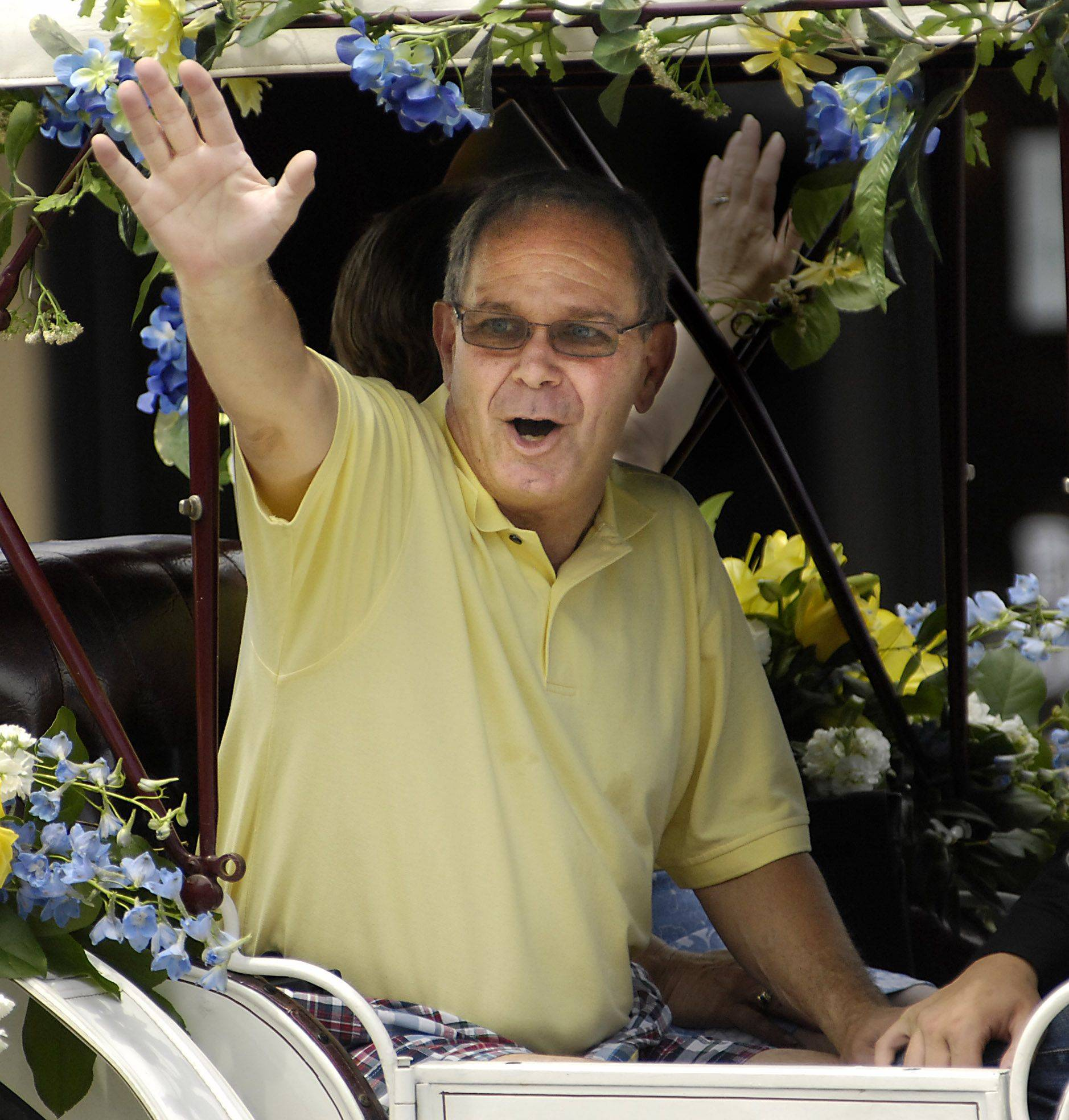 Chuck Lencioni was grand marshal during the 2010 Swedish Days Parade in downtown Geneva.