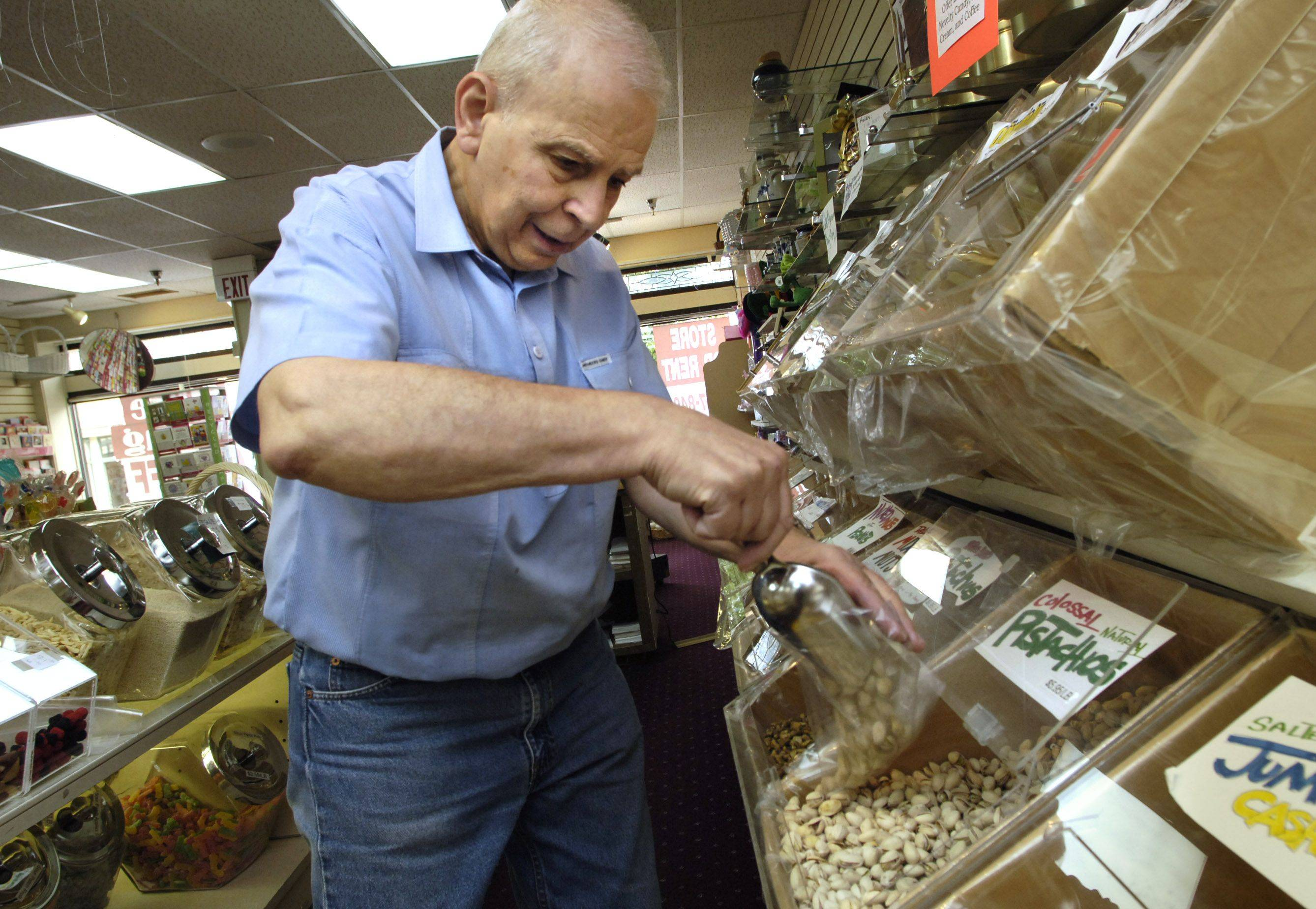 Dominick Lentini, who died Aug. 1 at the age of 80, used to own the Some Other Nuts store in downtown Libertyville.