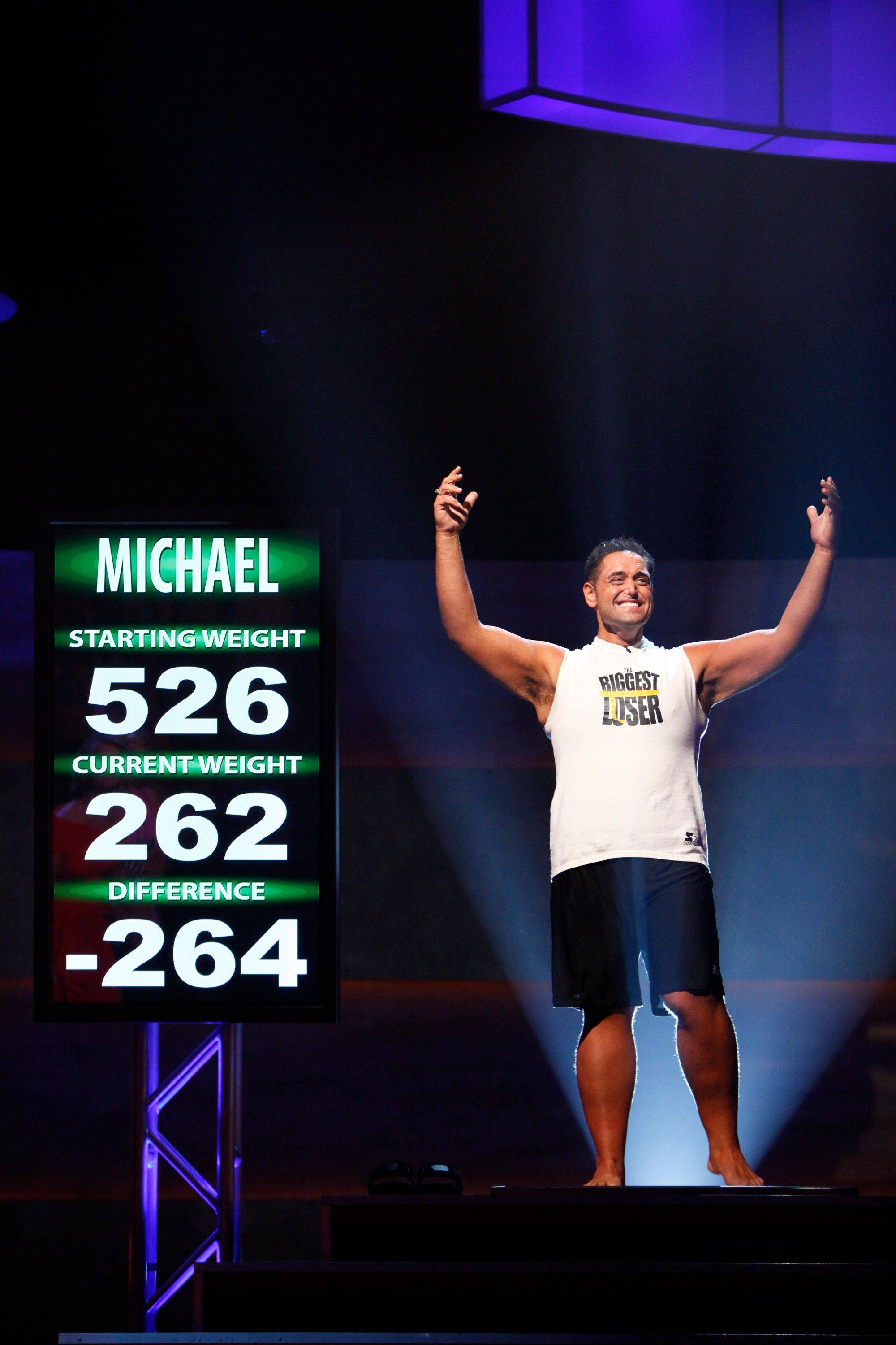 Biggest Loser winner Michael Ventrella of Bartlett lost half his 526-pound starting weight.